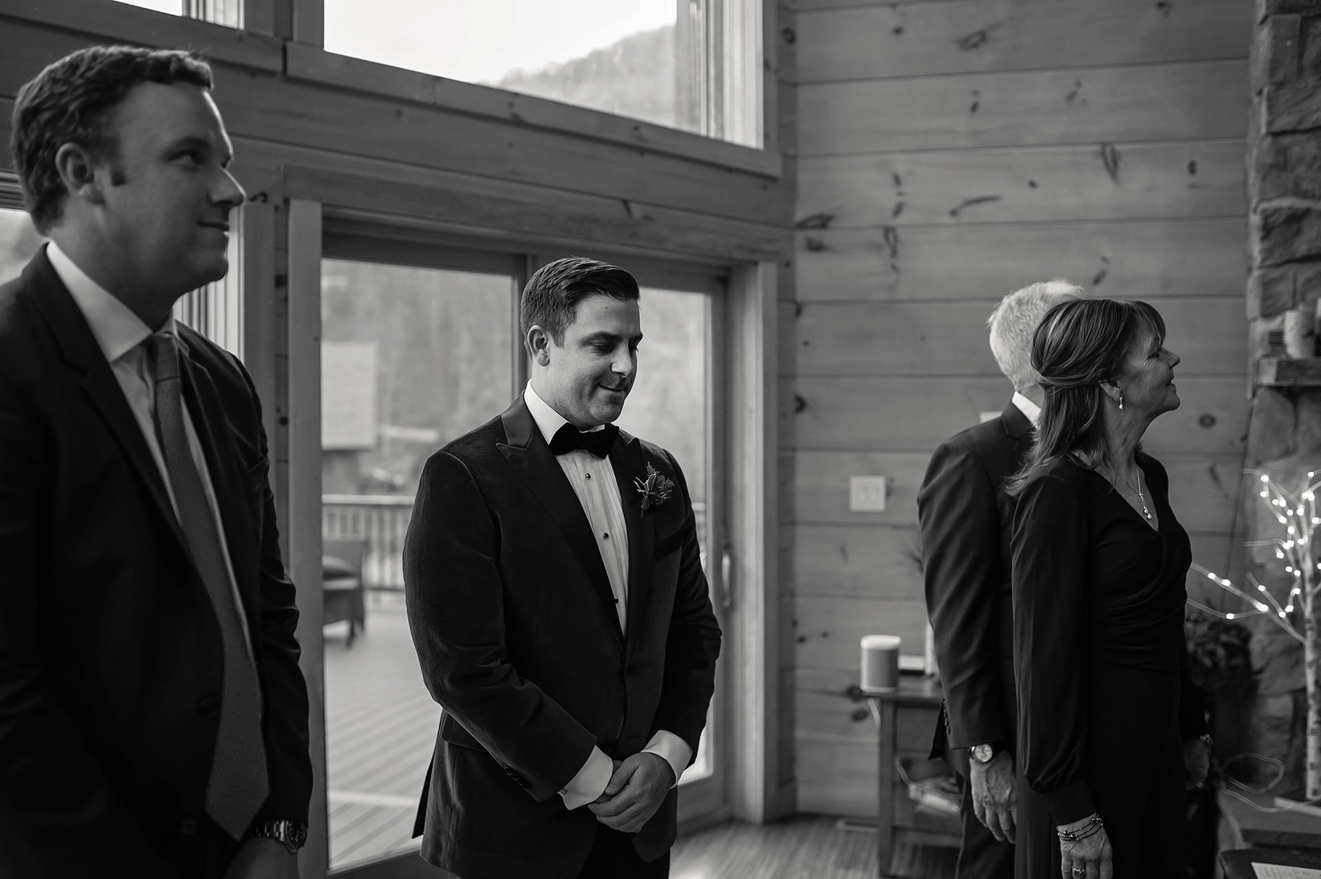 Wedding Photography - Catskills NY | entering the upper hallway leading to the staircase