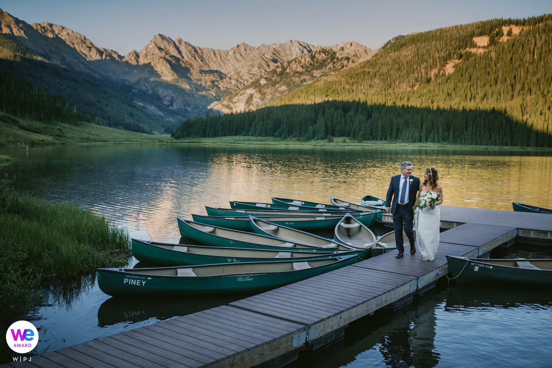 Piney River Ranch, Vail Wedding Venue Photography | Heading back to the reception to close out the night