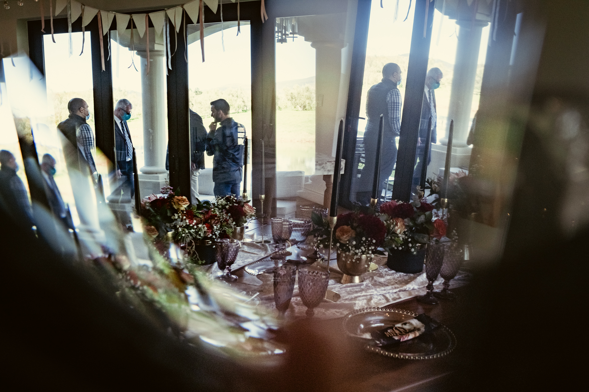 Franschhoek Wedding Venue Photography | A creative photo of the guests waiting for the bride to arrive