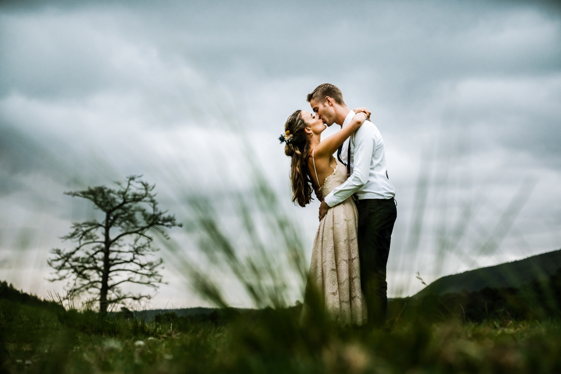 Swellendam, SA Wedding Couple Shoot | The overcast clouds made for a beautiful soft background