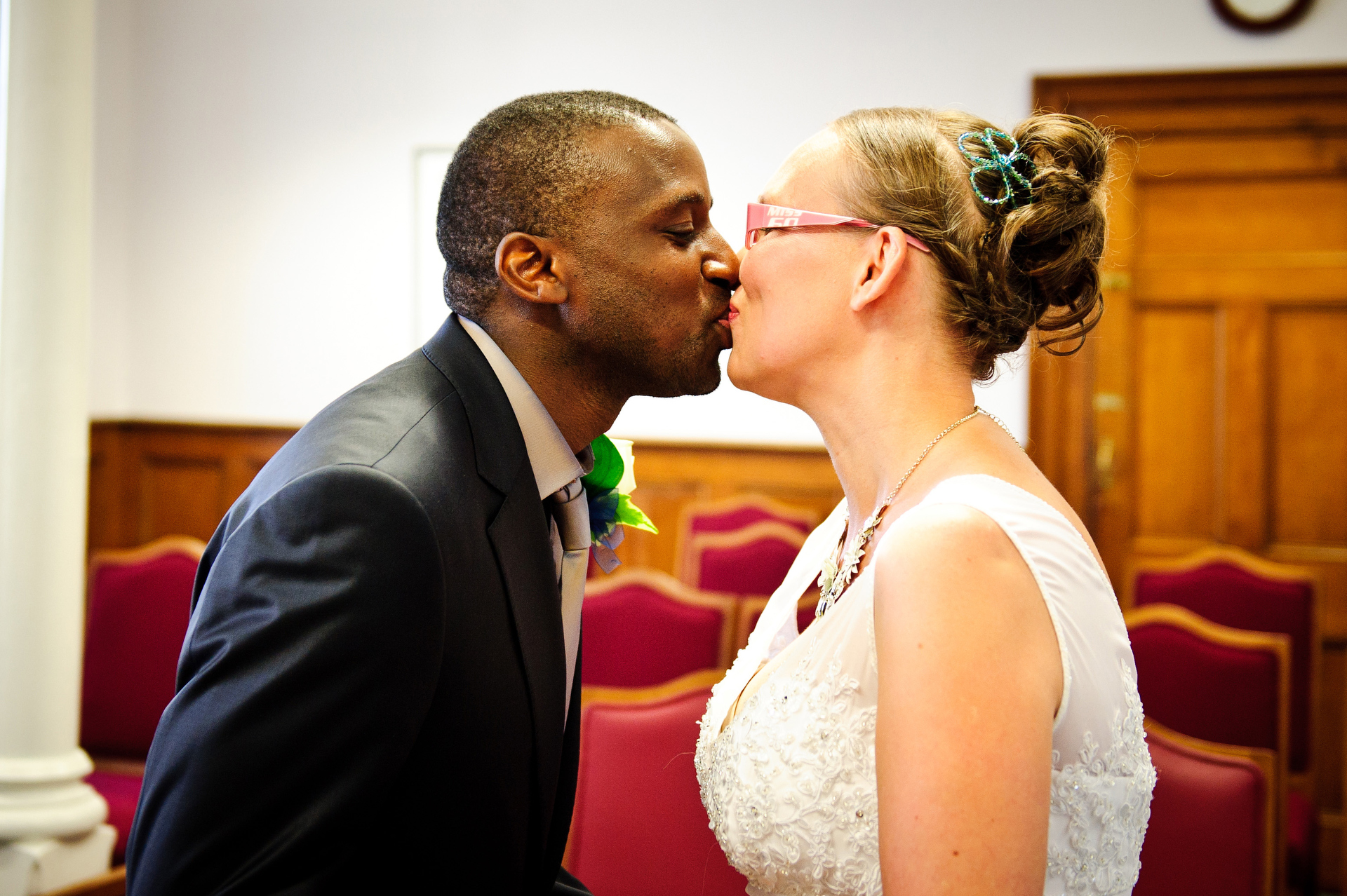 Island Greffe Registrar's Office Wedding Photography | They have been pronounced husband and wife