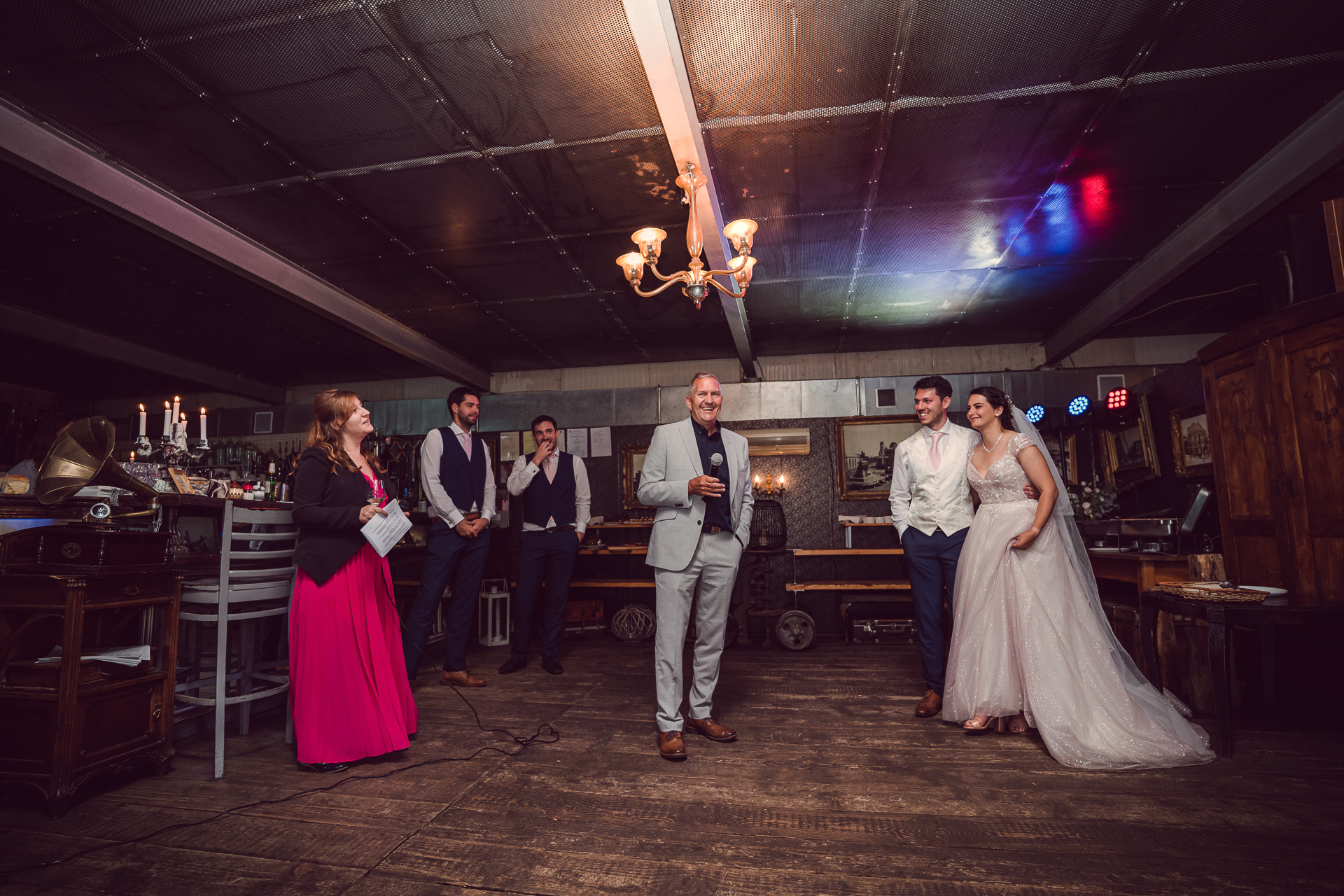 The Cocktail Bar of Sofia - Cozy Wedding Pictures | The father of the groom smiles
