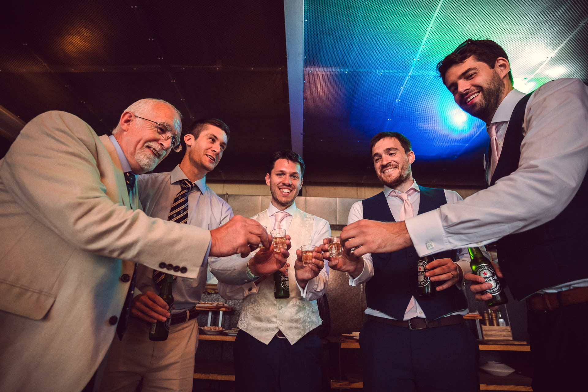 Wedding Photographers for Sofia Bulgaria | The men in attendance make a toast