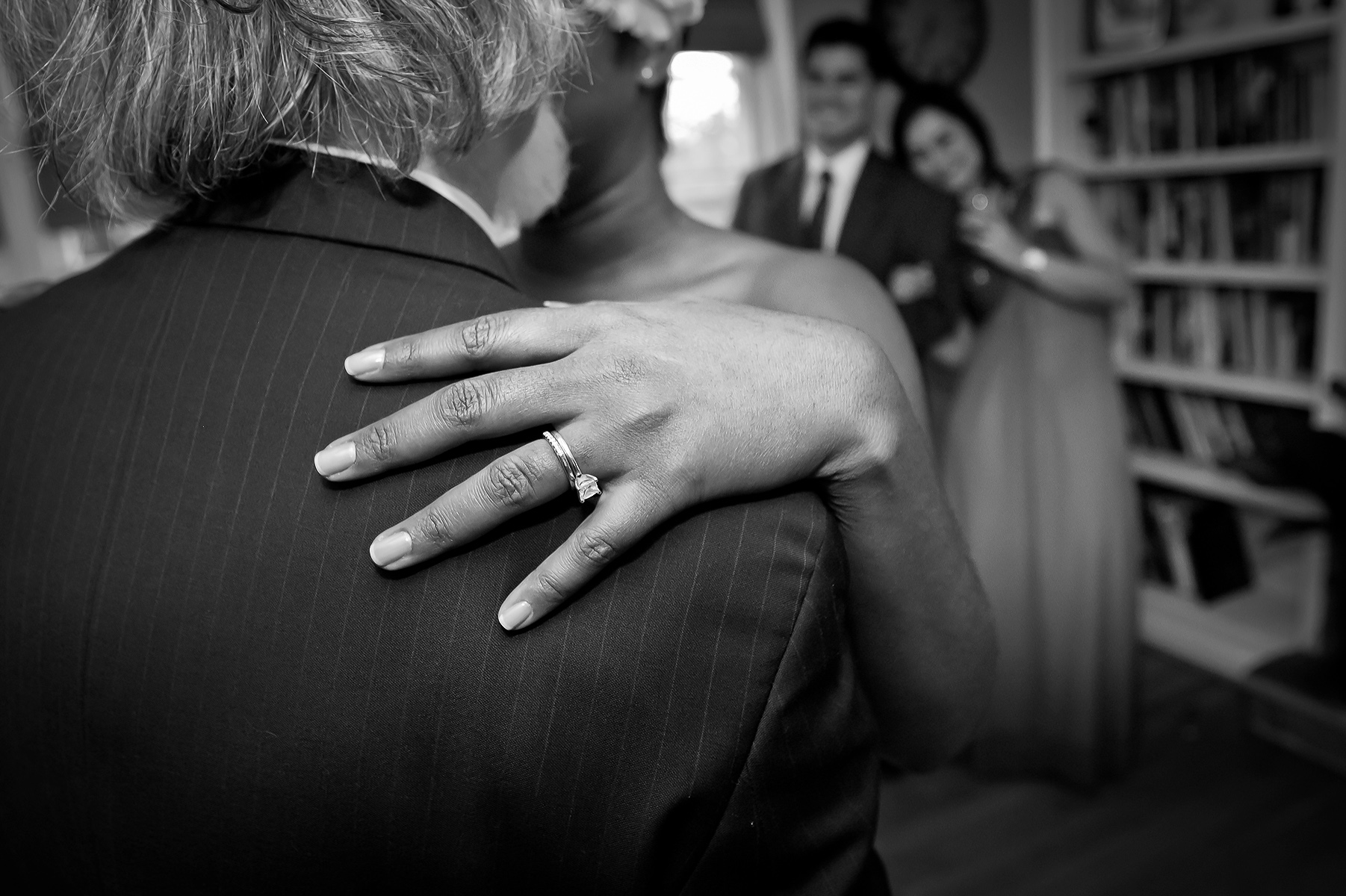 Georgia Home Wedding Photo - Sandy Springs Pro | Her wedding ring at the forefront symbolizing unity and eternity