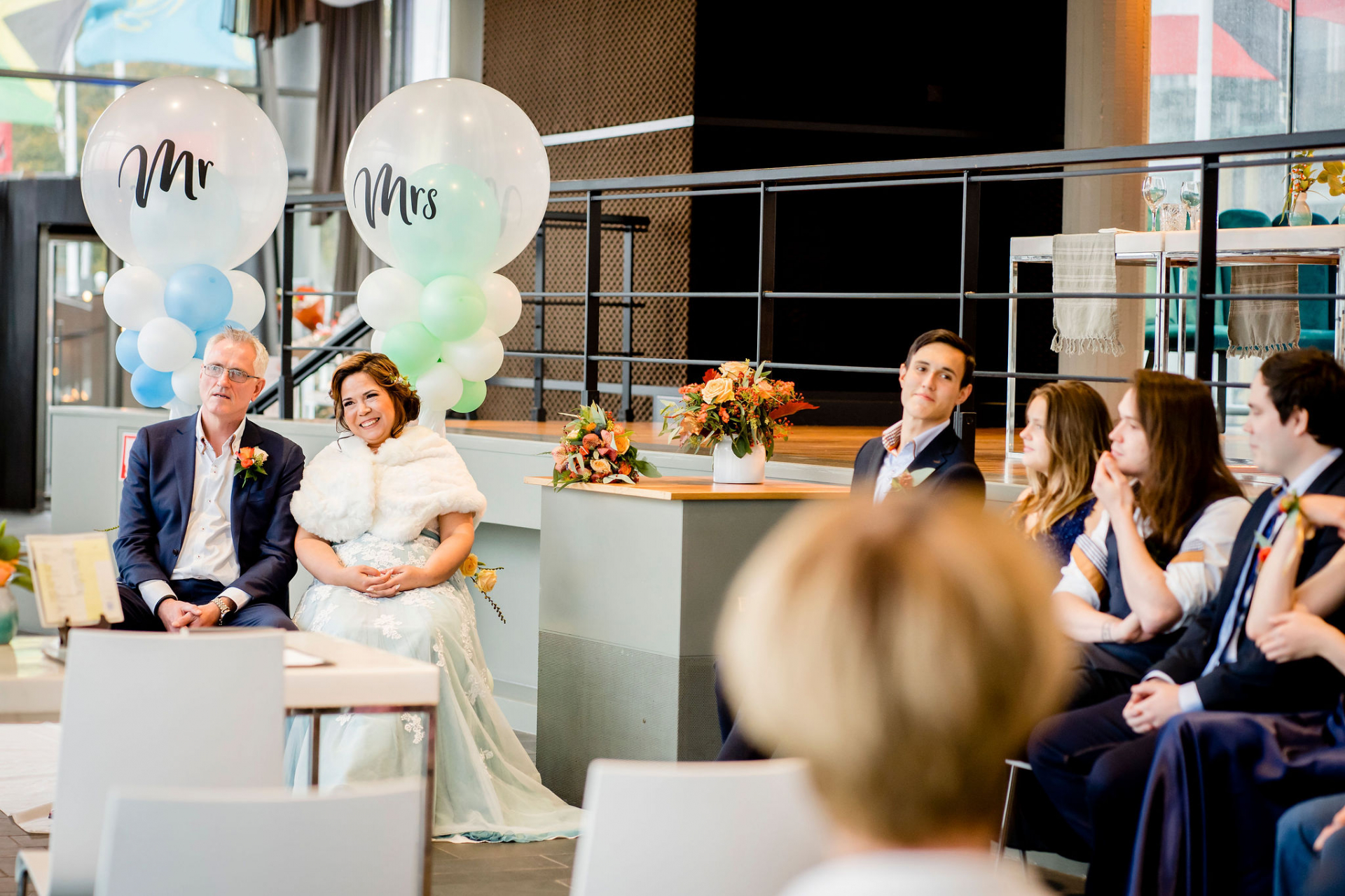 Rotterdam Netherlands Wedding Photographers | floor-to-ceiling windows and the buoyant balloons created a light and airy atmosphere for the event