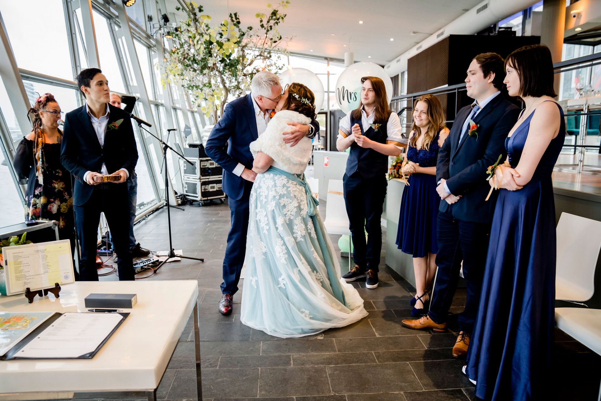 Documentary Wedding Photography, NL | the first kiss signals the start of their new life together
