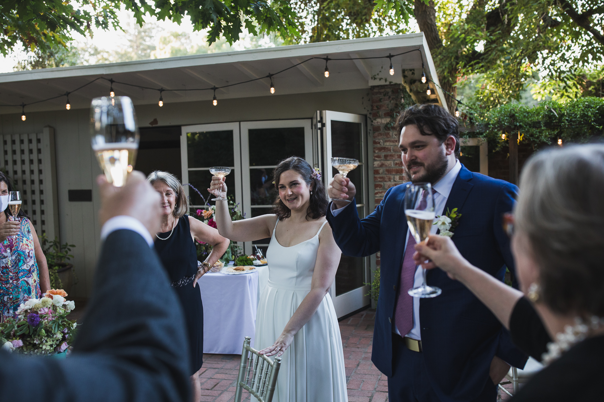 Gamble Garden Wedding Venue Picture - Palo Alto CA | The small group of family shared a few very heartfelt toasts
