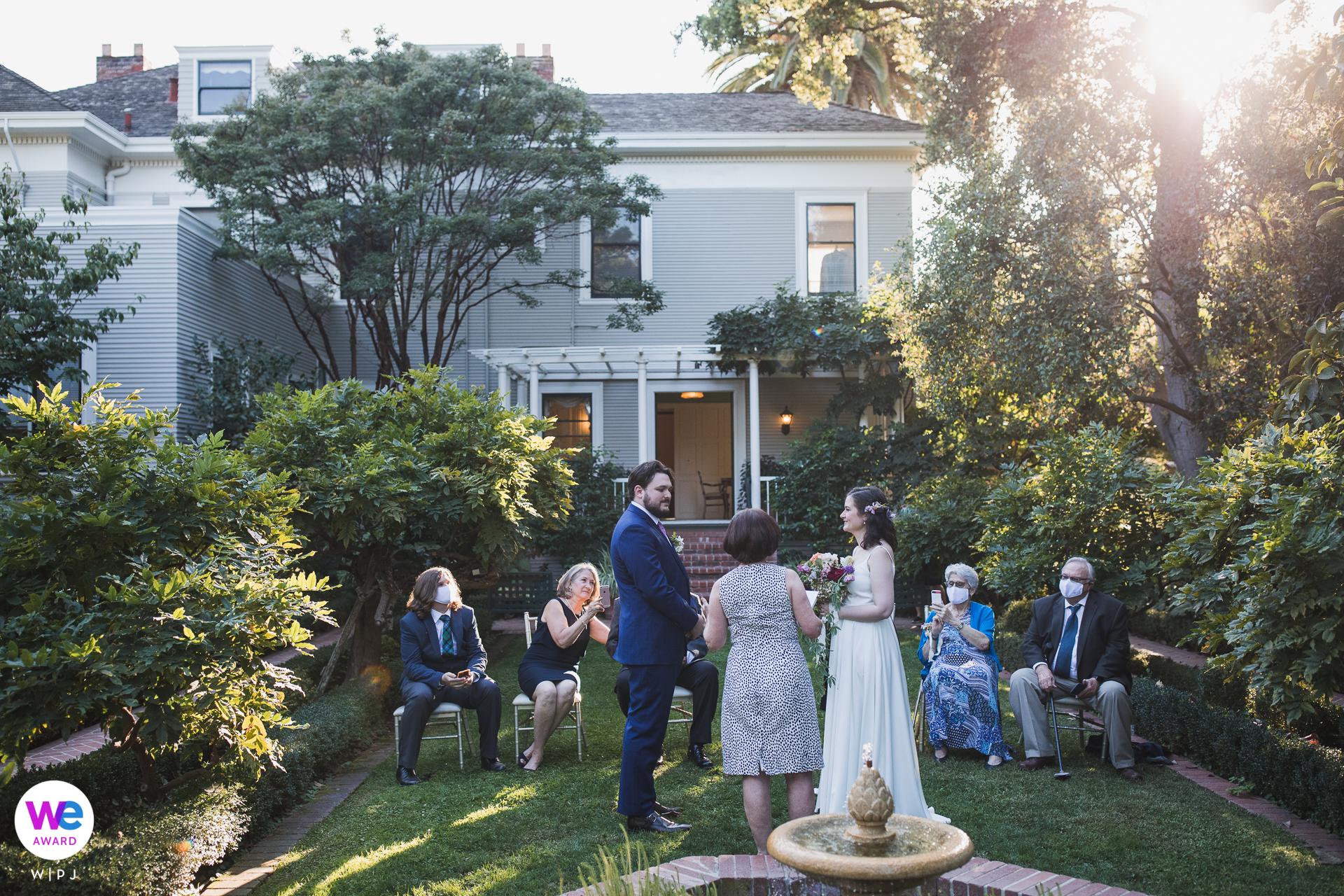 Gamble Garden, Palo Alto Wedding Photography | The ceremony site was in the main garden