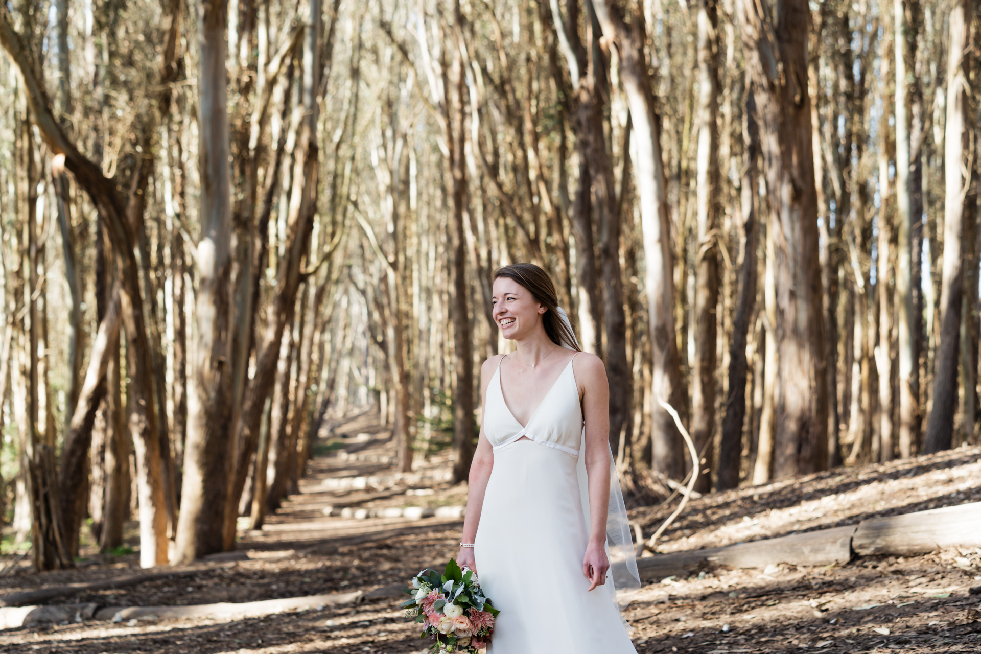 Andy Goldsworthy's Wood Line - Presidio, SF, CA Wedding Pic | Finding joy in the trees