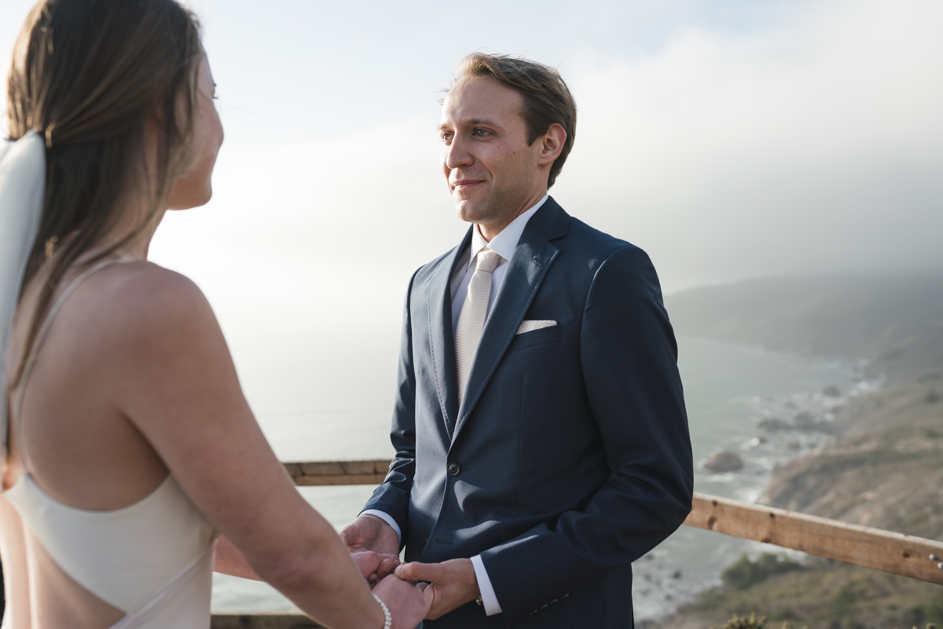 Muir Beach SF Overlook Wedding Ceremony Picture | A private elopement in the absence of an audience
