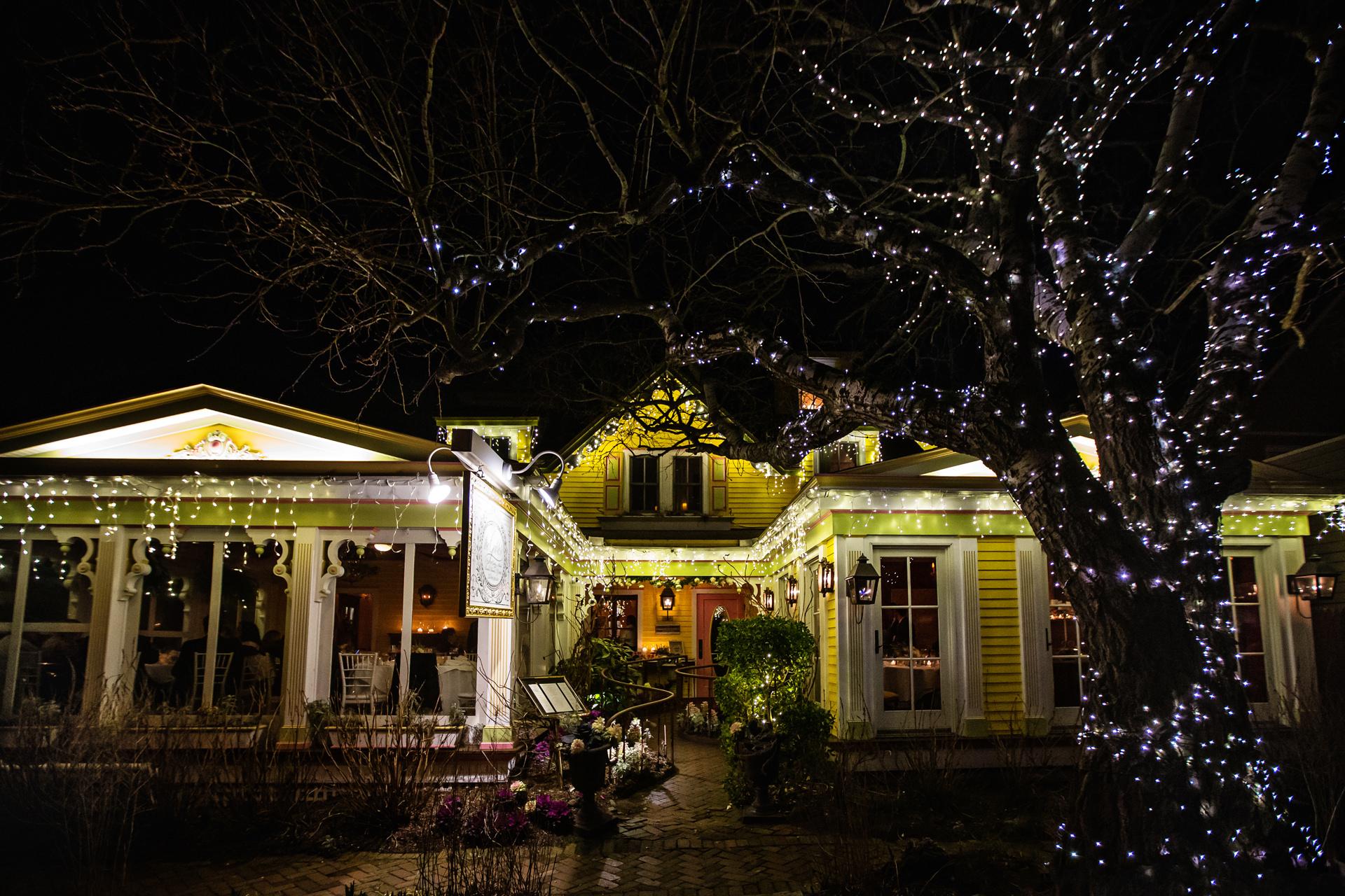 Photo: Gables Inn, Beach Haven on Long Beach Island | Night shot of the Victorian New Jersey Inn