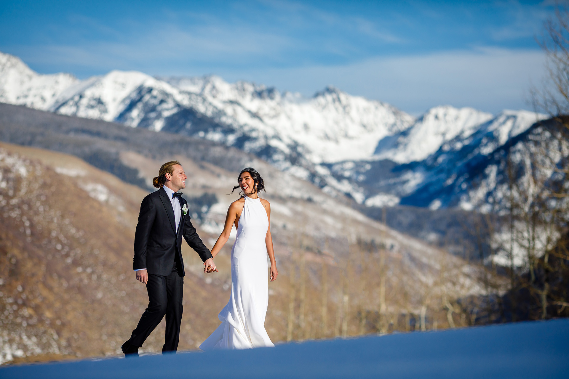 Vail Resort Wedding Image from Colorado Mountains | majestic mountain range defining the background