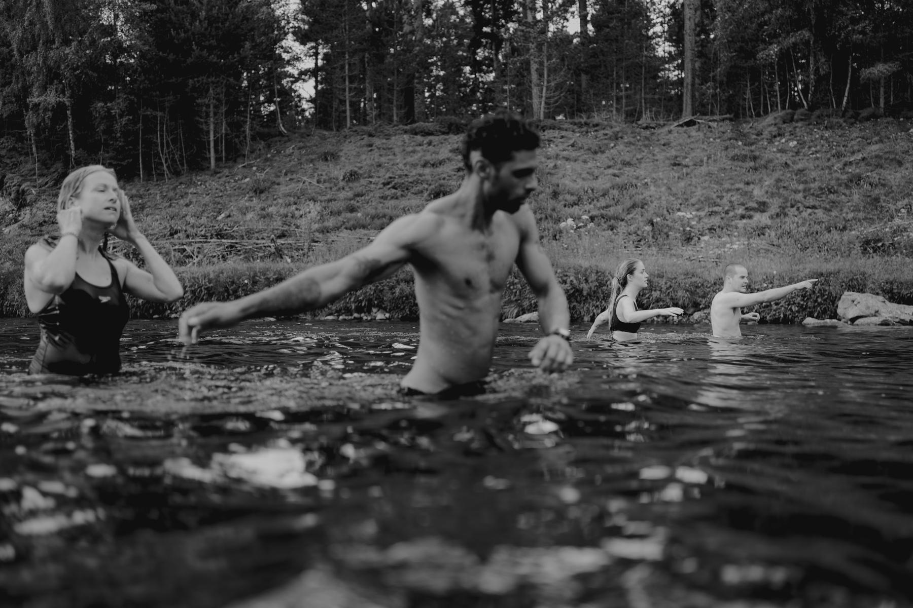 外部婚礼摄影师苏格兰| 在森林里举行仪式之前