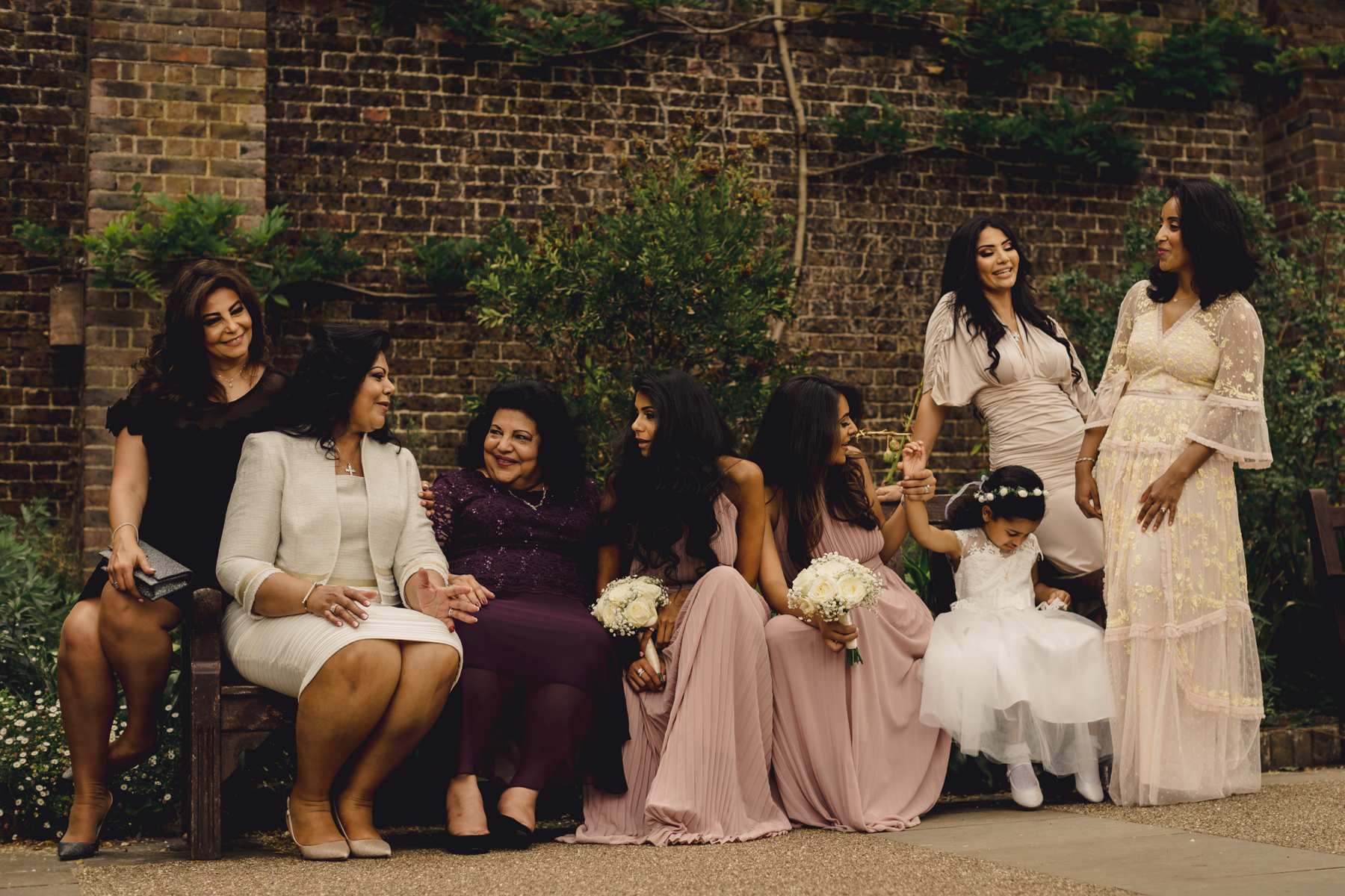 UK Wedding Reportage Image from London | The women of the family recount the magical moments