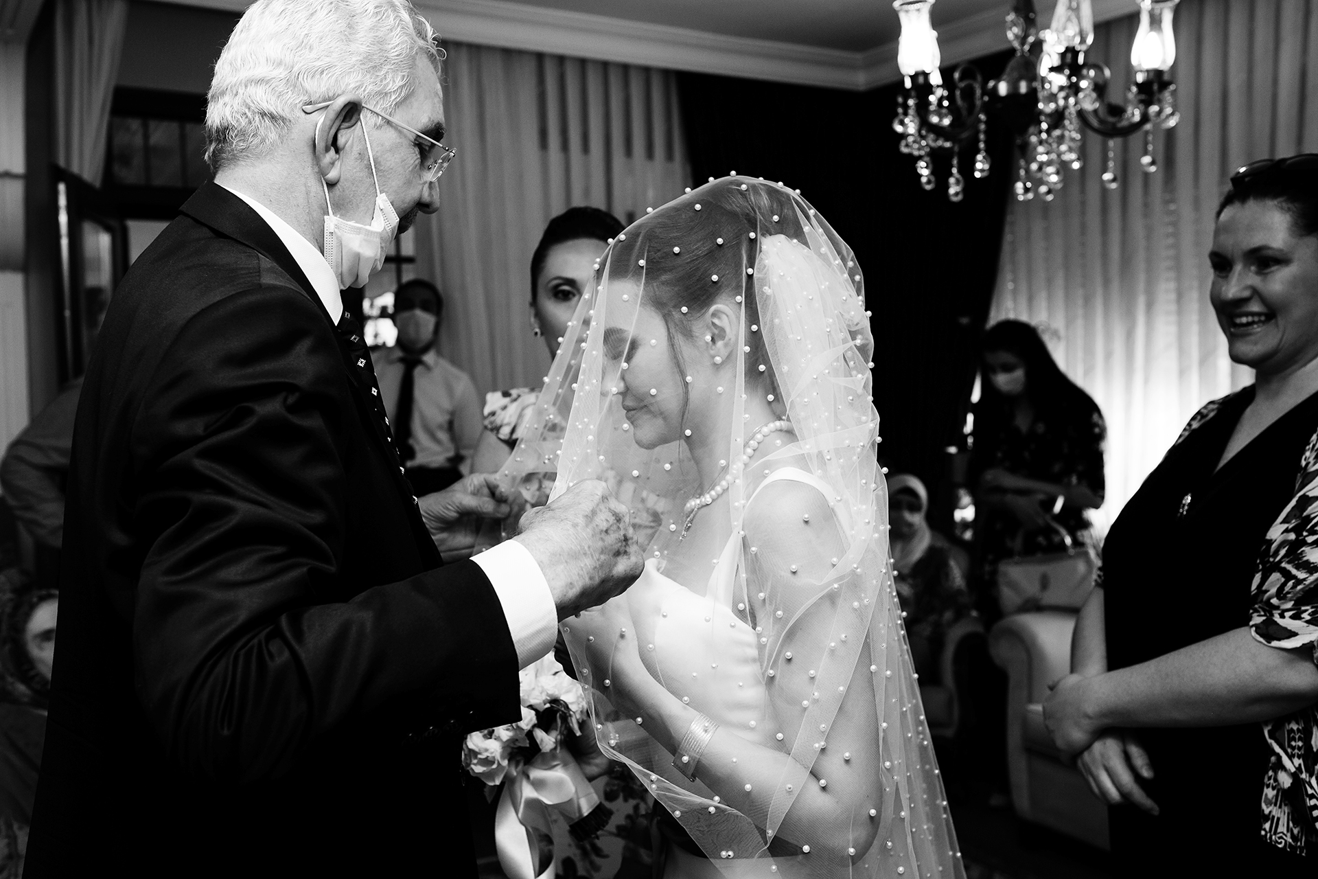 Istanbul, Turkey Bodrum, Belediye Office Wedding Photo | The bride's uncle taking the role of a recently lost father