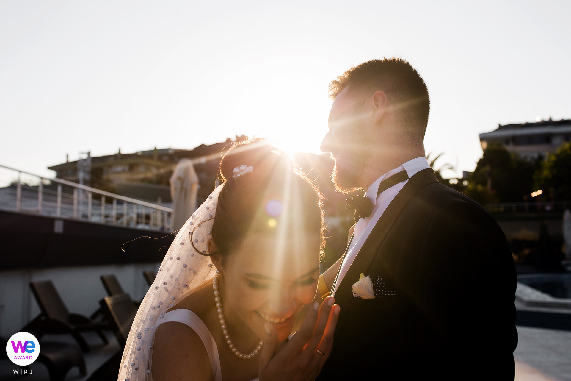 Istanbul, Turkey Professional Wedding Photographers | whenever their eyes met each other they burst into laughter