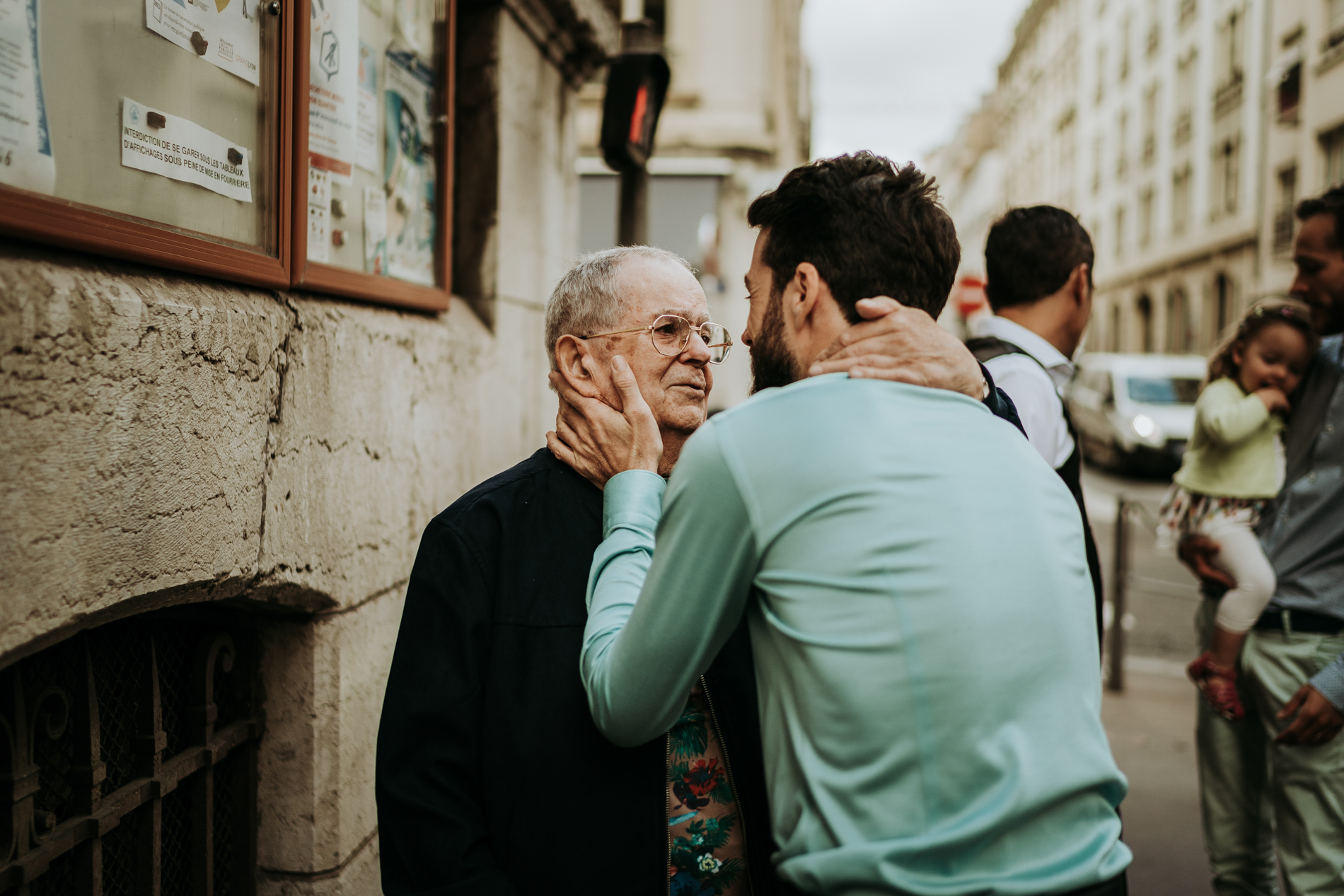 Lyon Wedding Photography - France | The groom and his grandfather, who was very moved to be able to attend the elopement