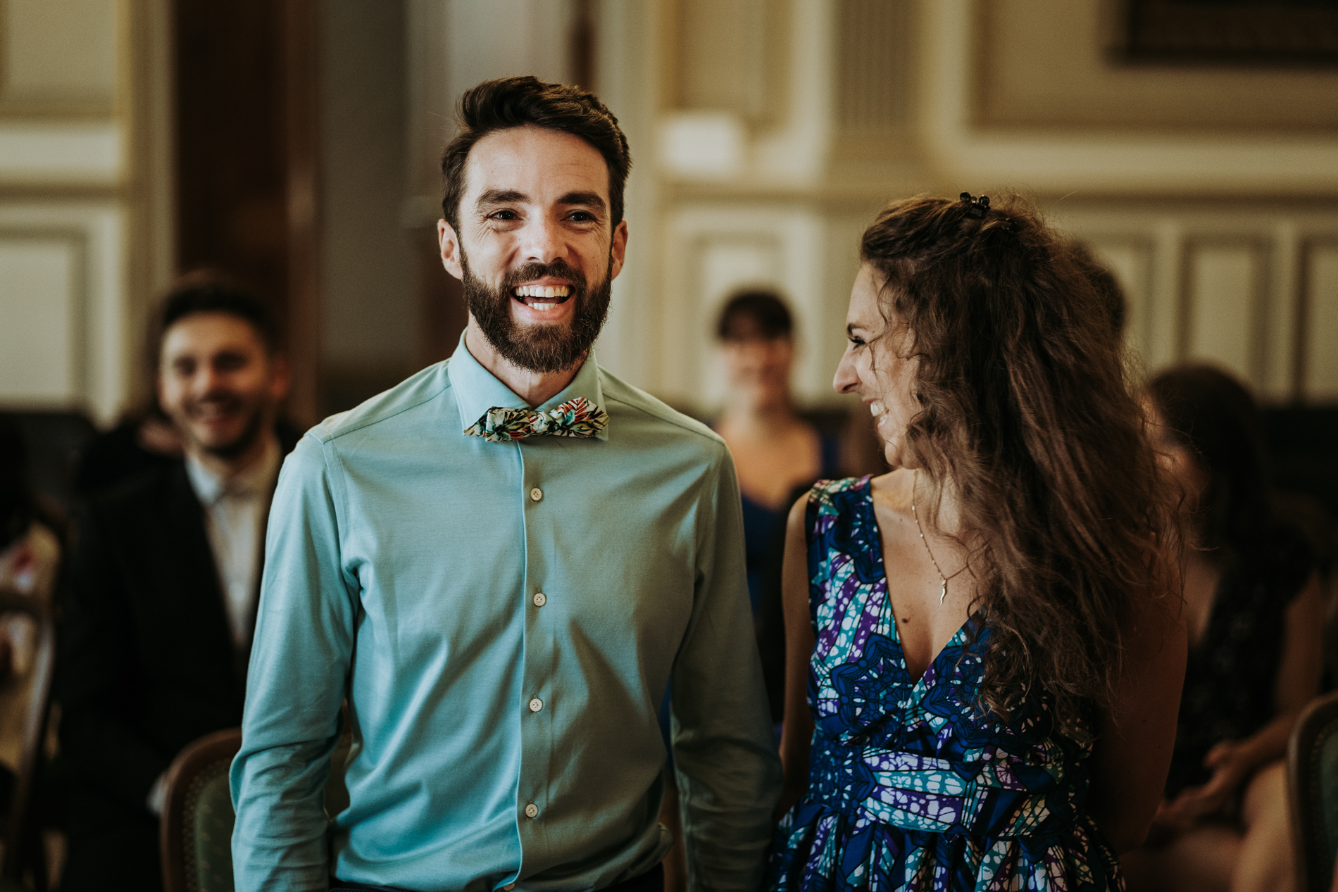 French Wedding Ceremony Photo | For this unconventional and joyous couple, their civil ceremony was full of good humor