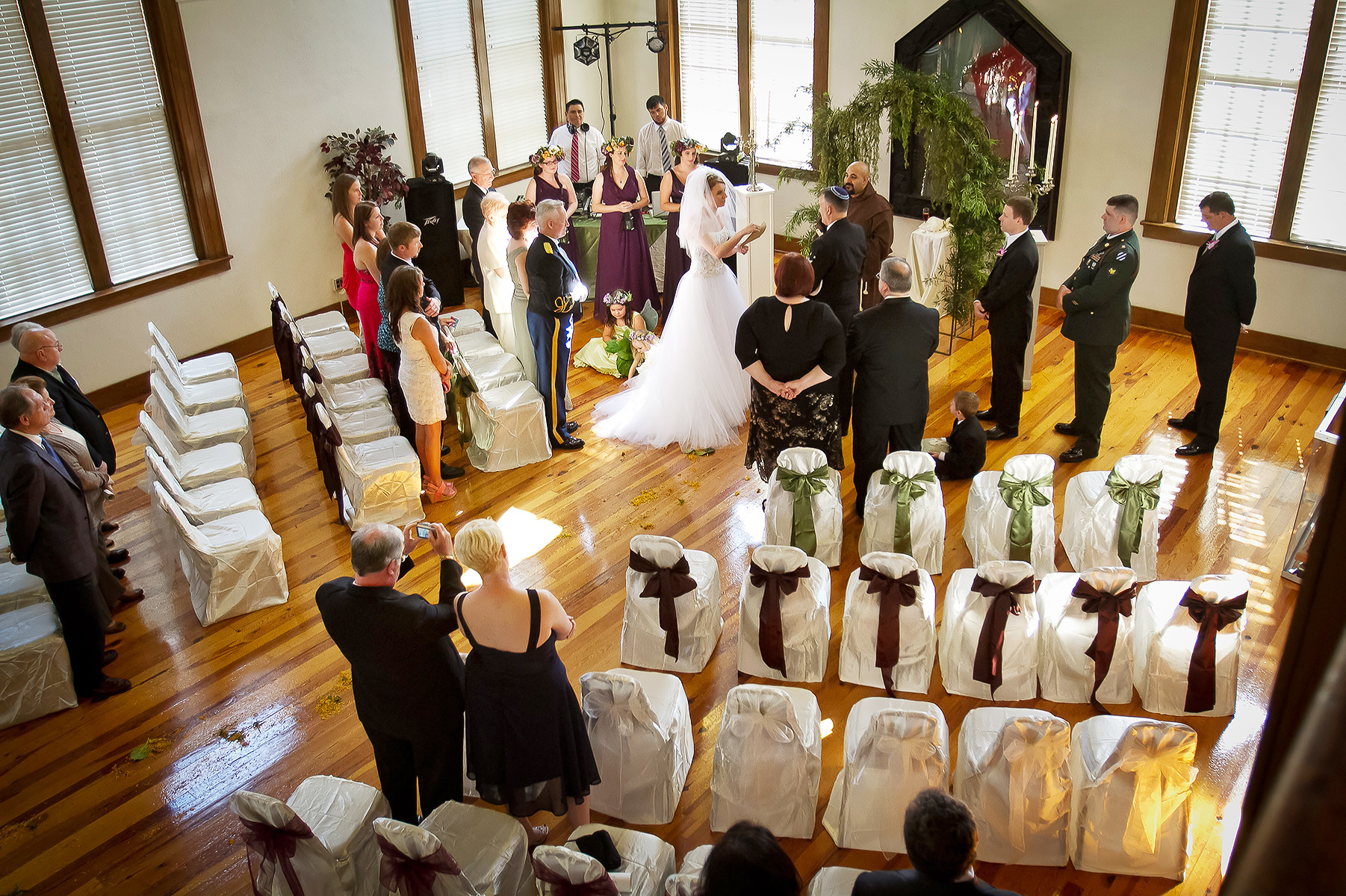 Community Center Weddings in the City of Hattiesburg | The ceremony took place in warm afternoon light that poured in through the windows