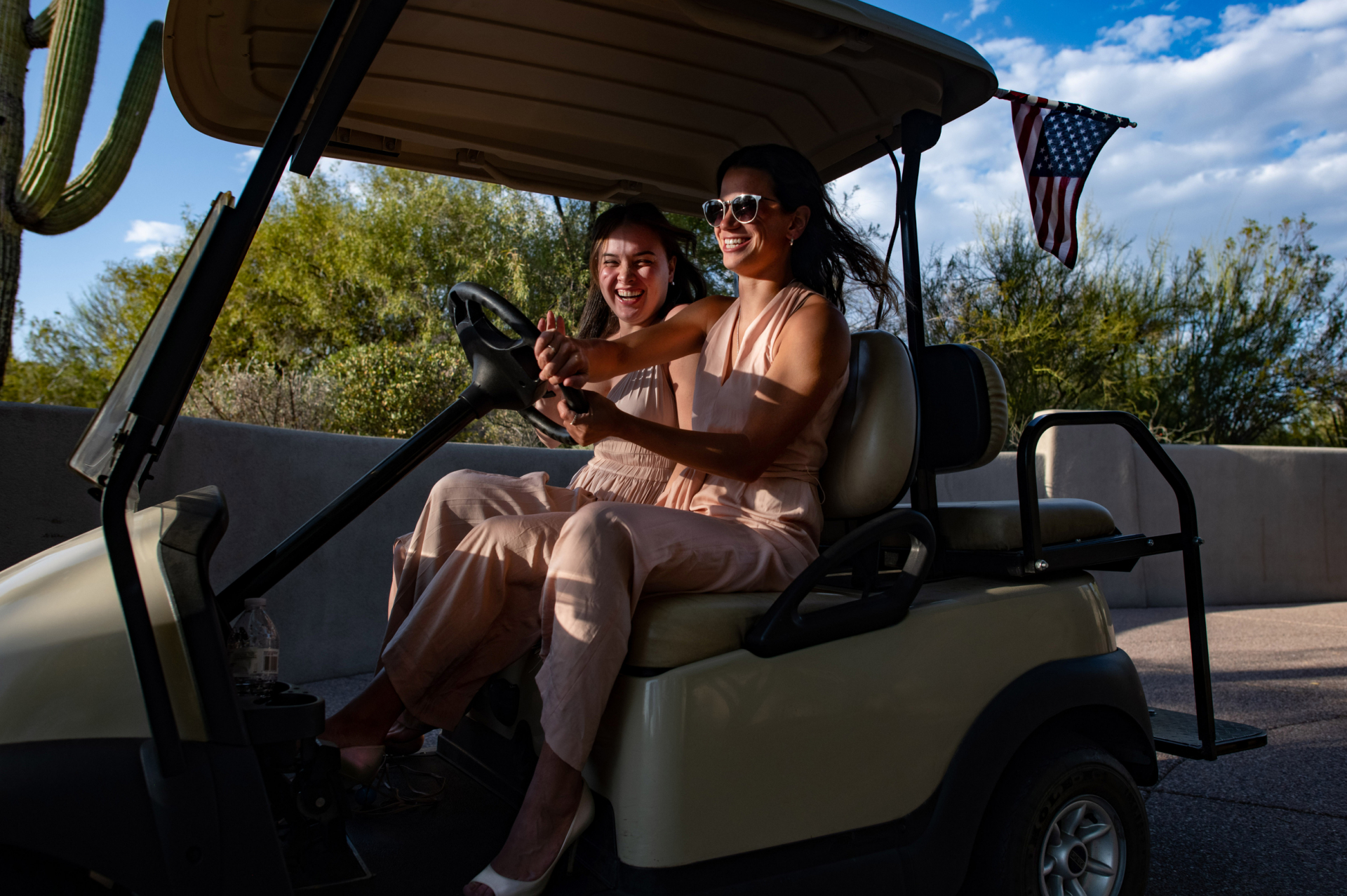 Outdoor Wedding Pic - Boulders Resort & Spa, AZ | family members filled with joy and a sense of adventure