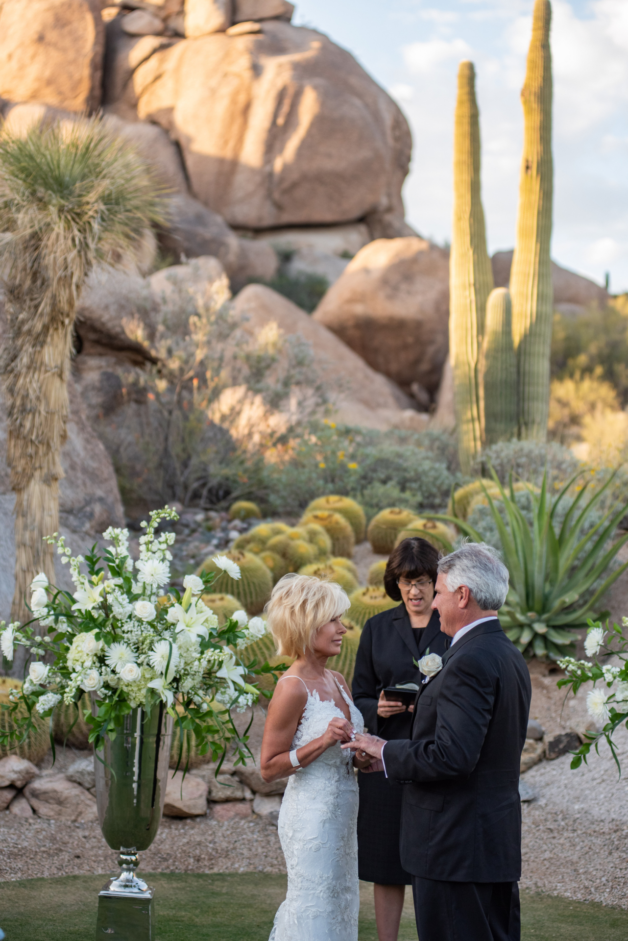 Arizona Wedding Photography - Scottsdale Desert Ceremony | Promise Rock is hovering in the background