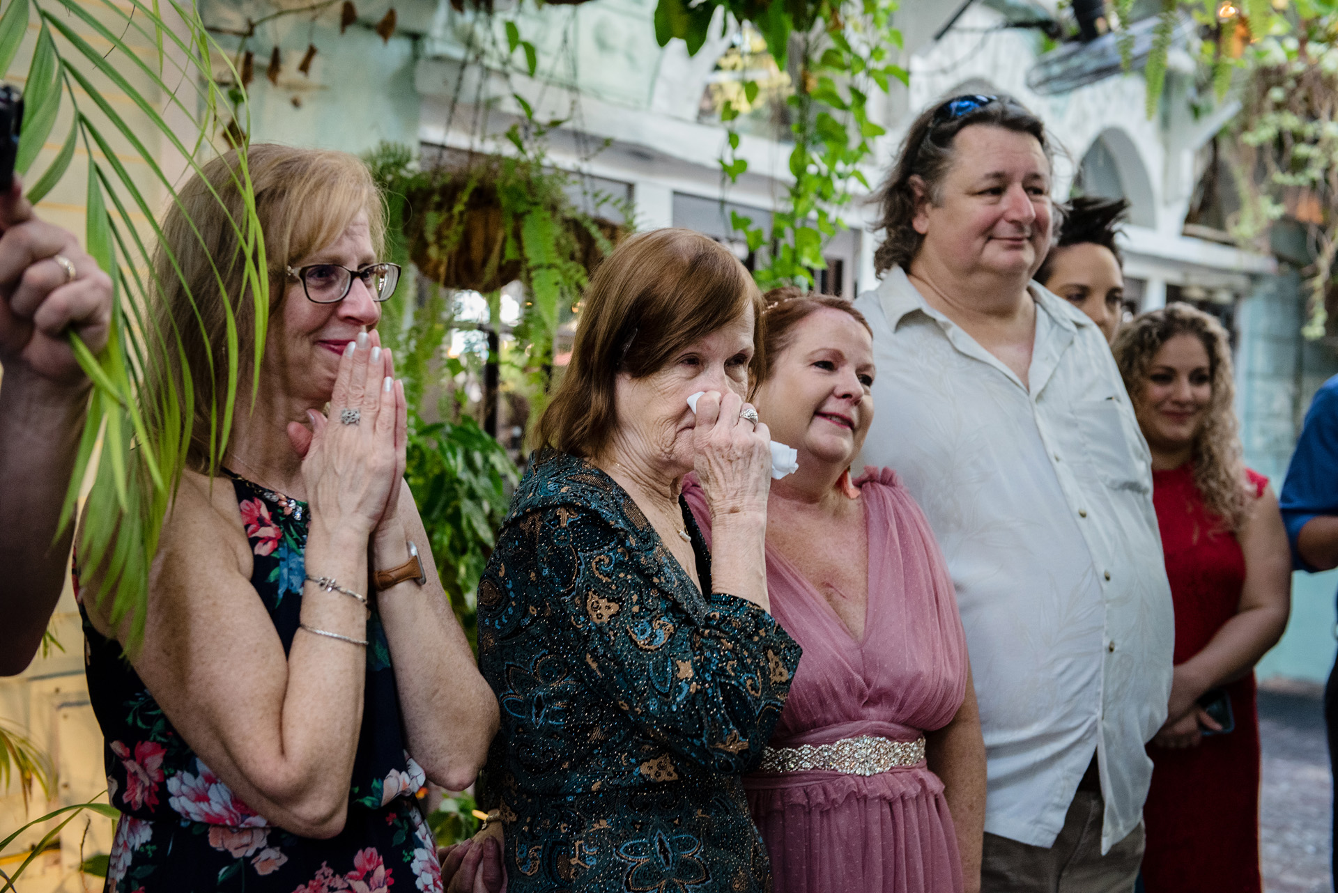 Key West Photographer for Florida Weddings | Guests overcome with emotion and filled with the joy