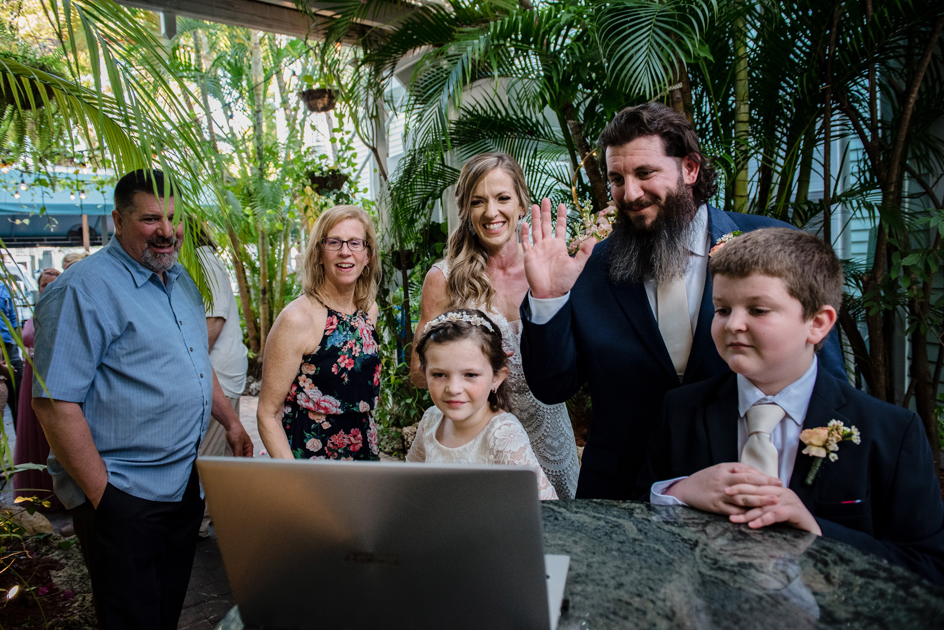Key West Wedding Photographer, Florida Keys | Like other couples who wed during the pandemic, a zoom call connects