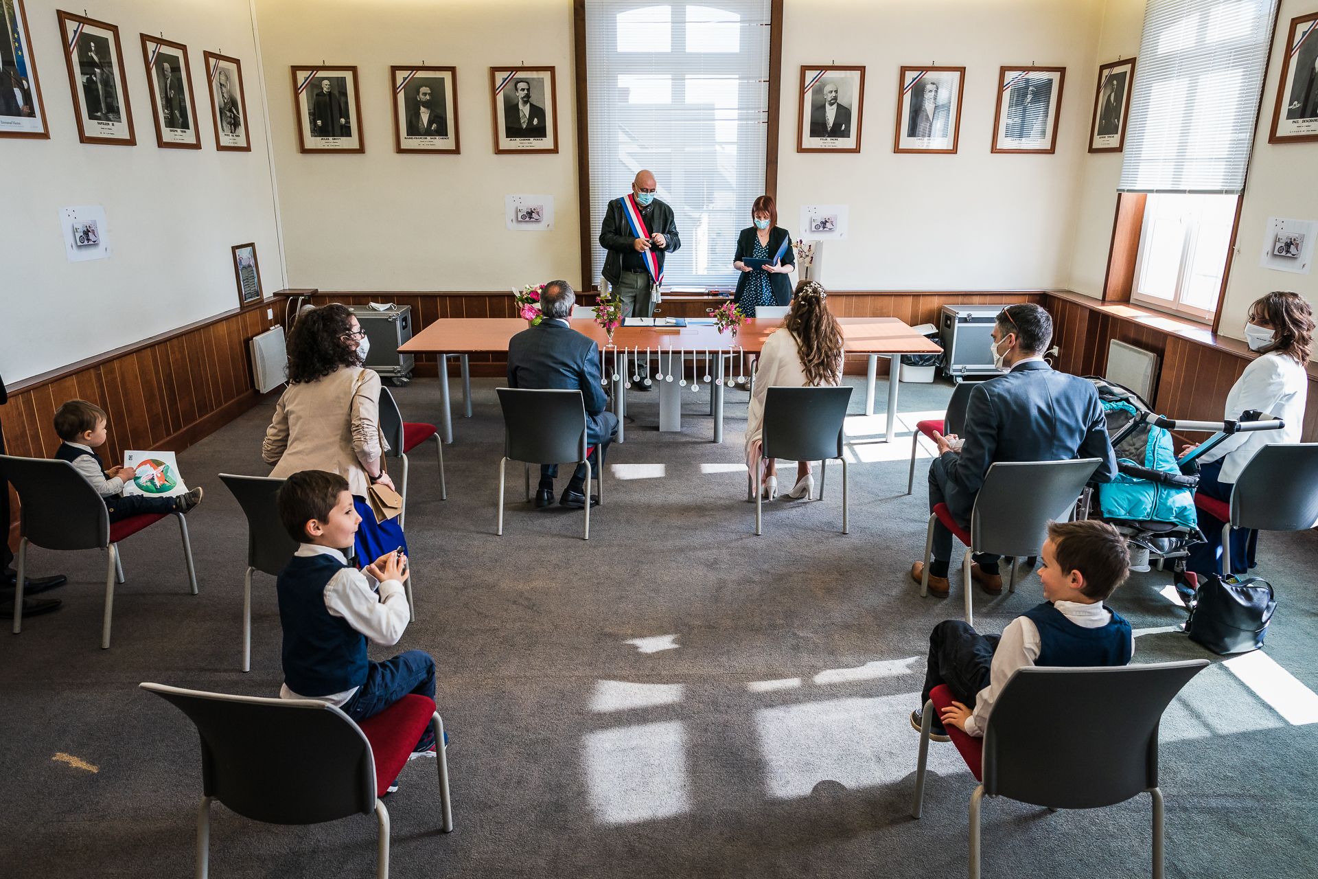 Saint-Laurent-Nouan Town Hall, France Wedding Photos | The kids simply wanted to play and spend time with their family members