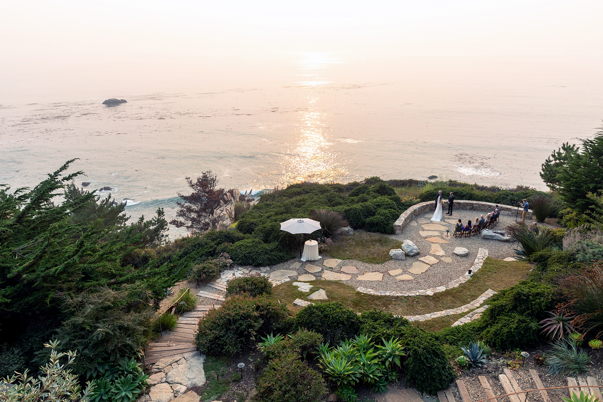 Wind and Sea Wedding Venue Photography - Big Sur, CA | a private and peaceful cliff side patio that is perfect for small elopements