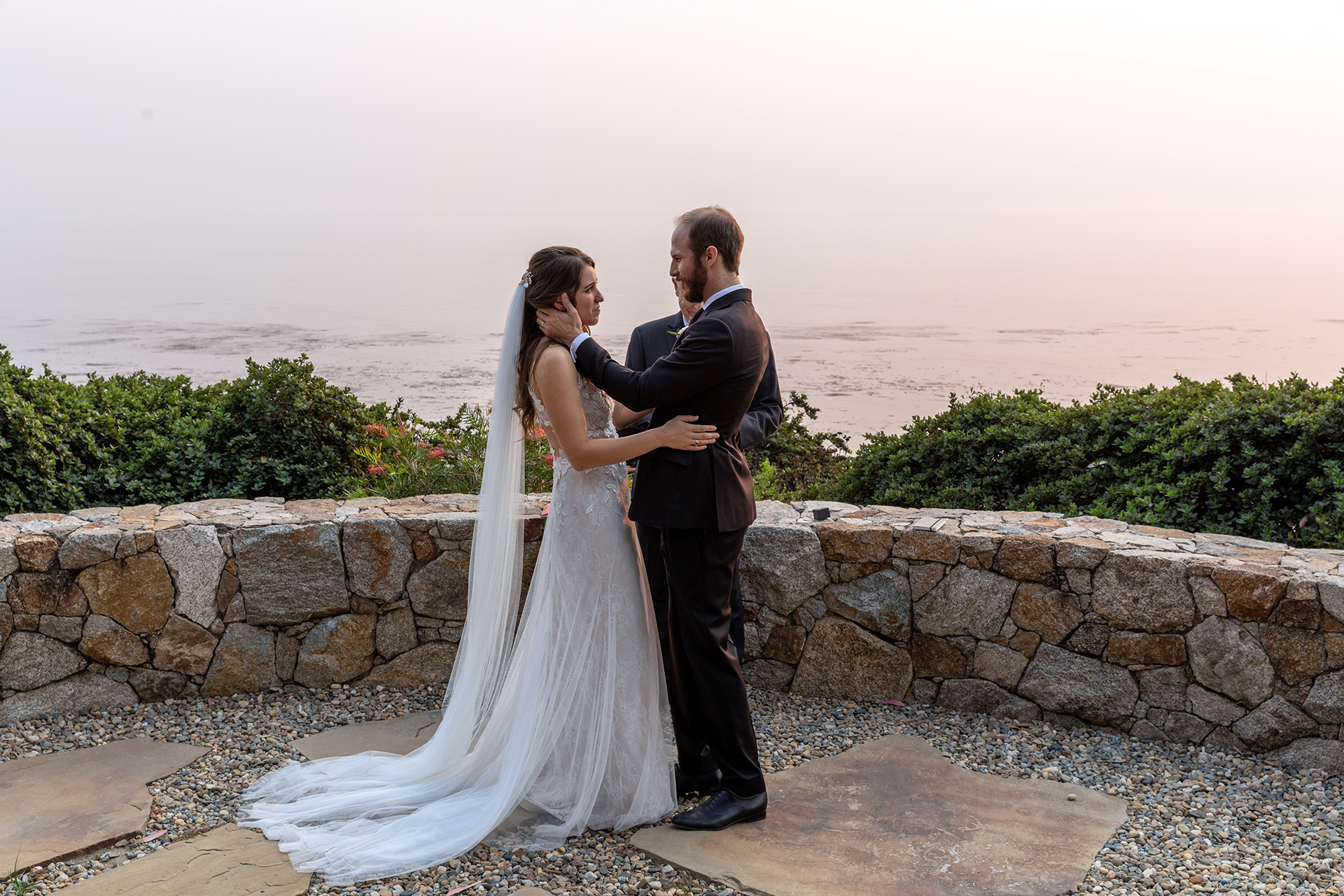 Destination Wedding Images from Big Sur, CA | The groom pauses for a brief second in order to soak up the moment