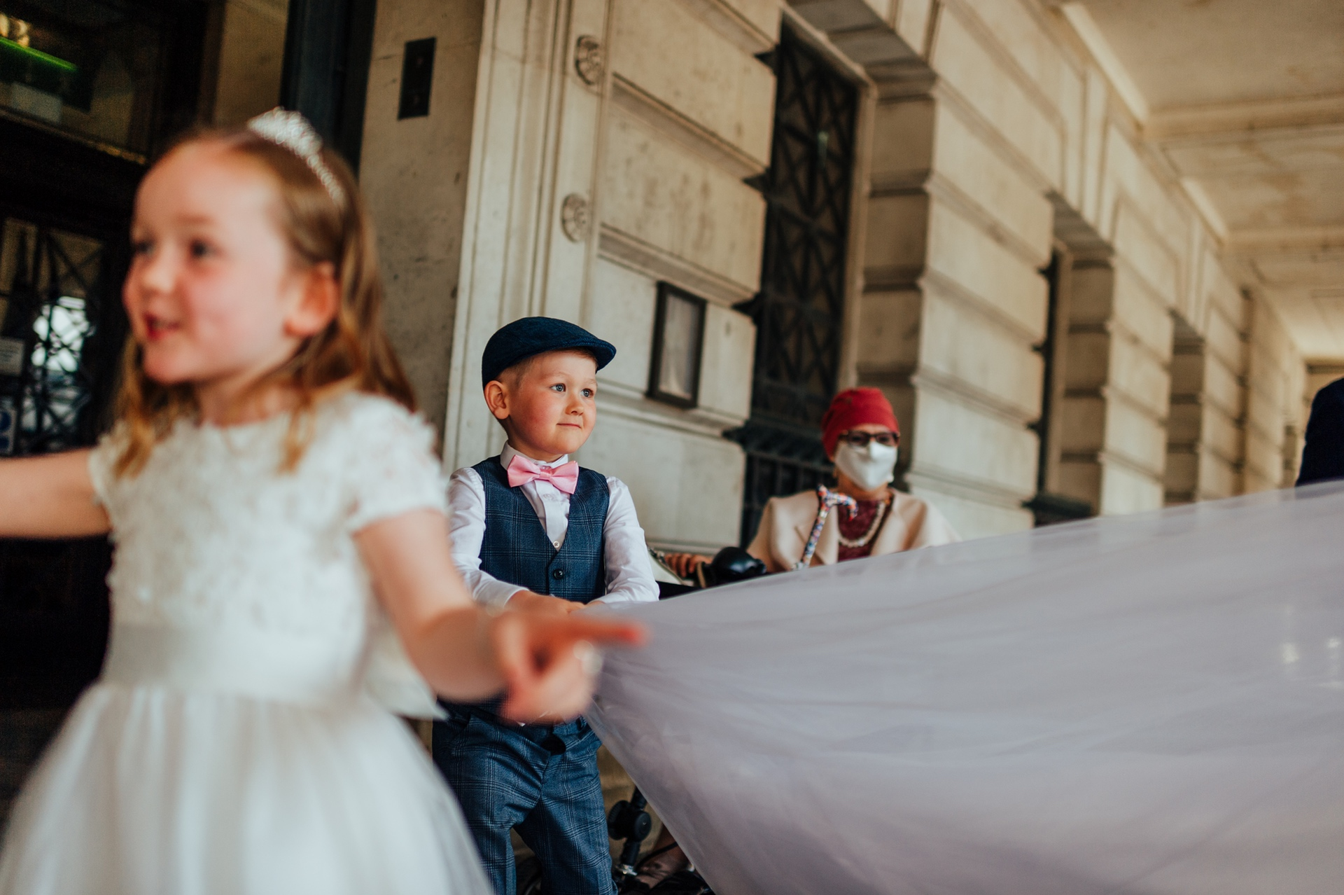 UK Reportage Pic from Nottingham Council House | The boy looks at the bride with pride and love