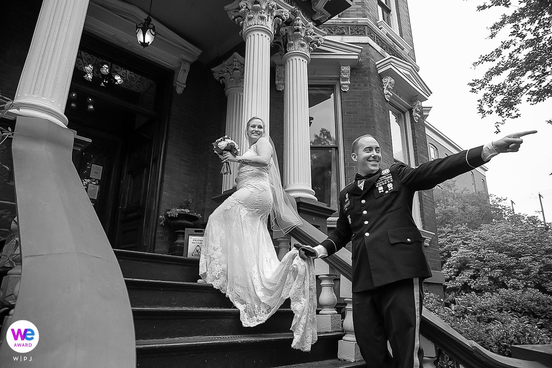 Savannah Weddings at The Kehoe House | The bride and groom acknowledge a veteran and his wife