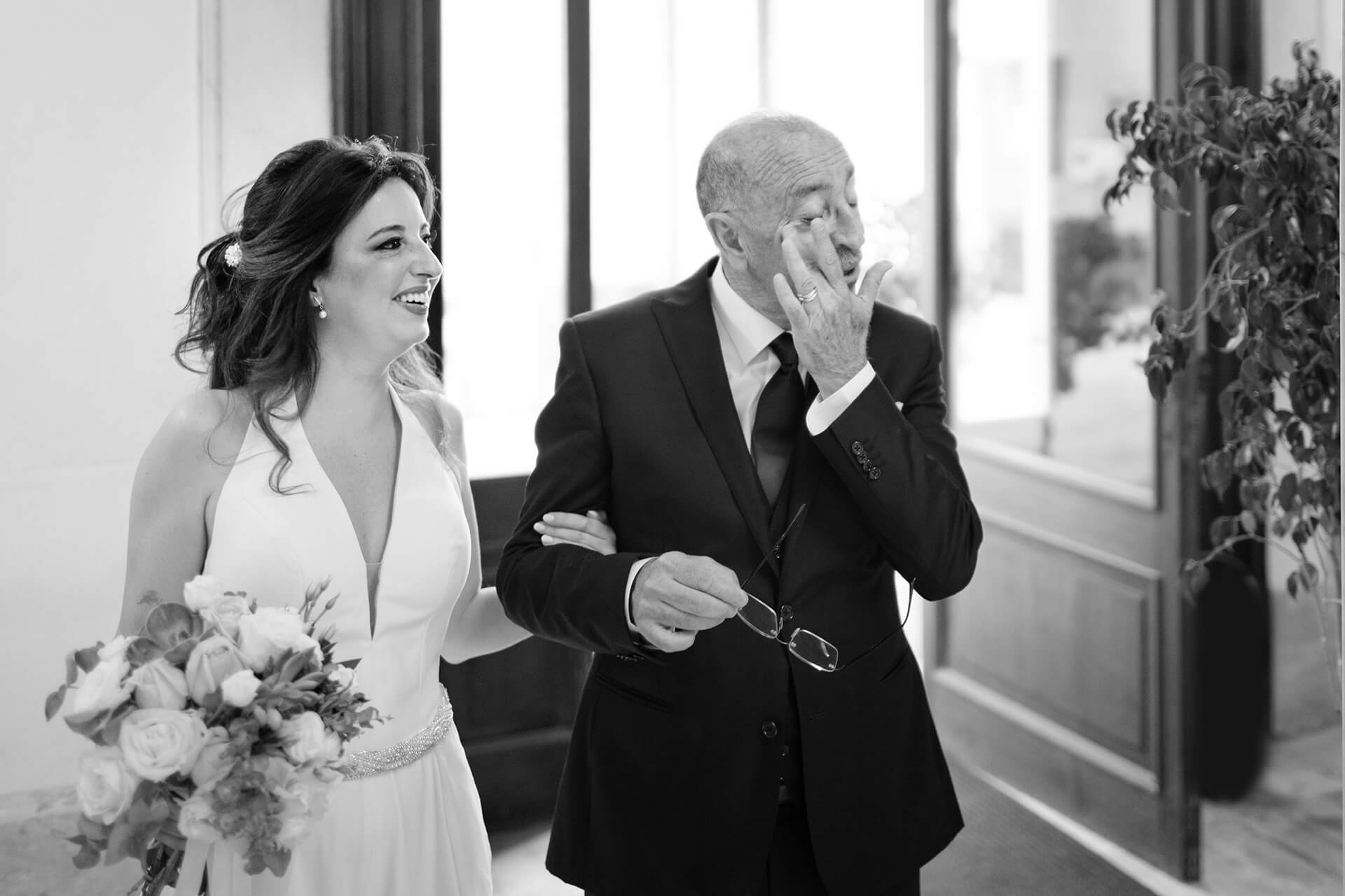 Italy Destination Wedding Photos in BW |  the emotion is present