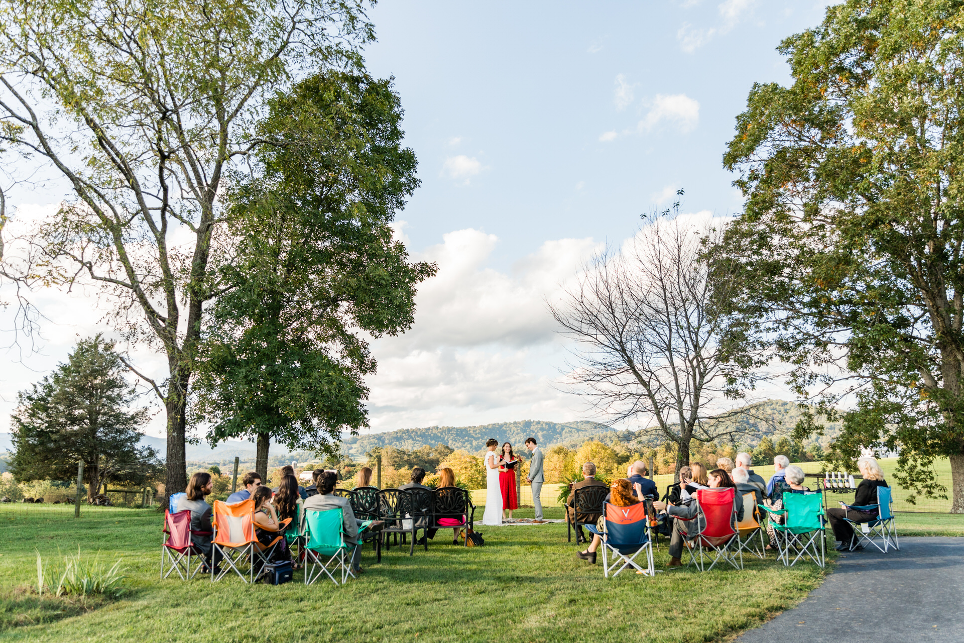 Photography for Charlottesville Virginia Weddings | They kept the ceremony very casual, with guests sitting in lawn chairs