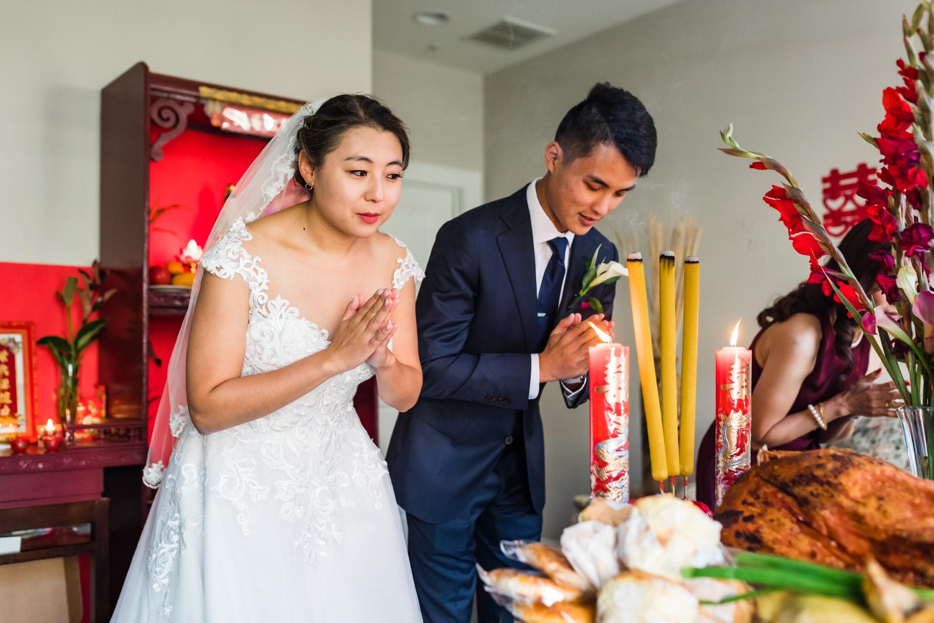 Photographie de mariage pour Richmond en Virginie | La cérémonie du thé commence