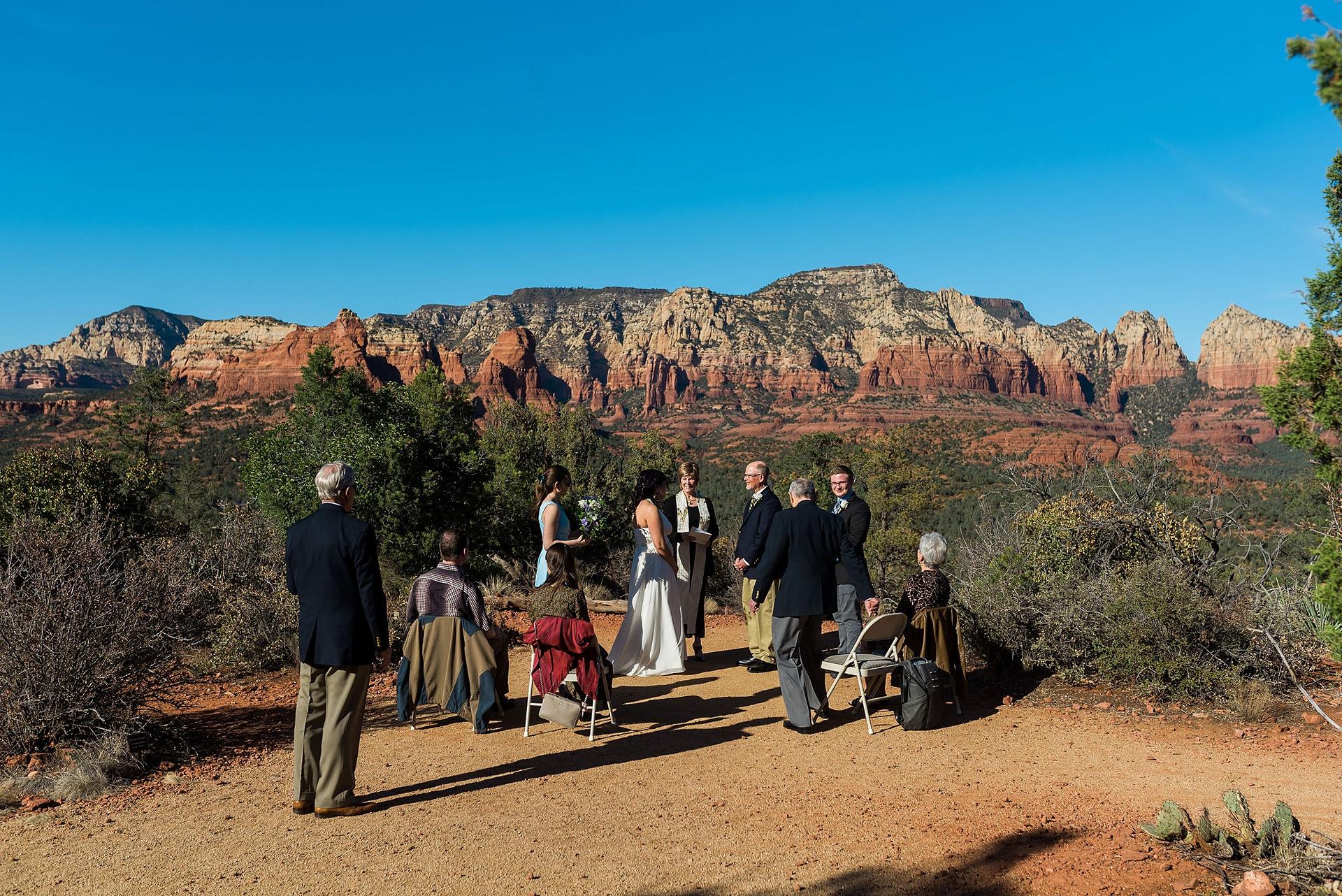 Sedona Elopement Wedding Ceremony Image | An intimate AZ elopement