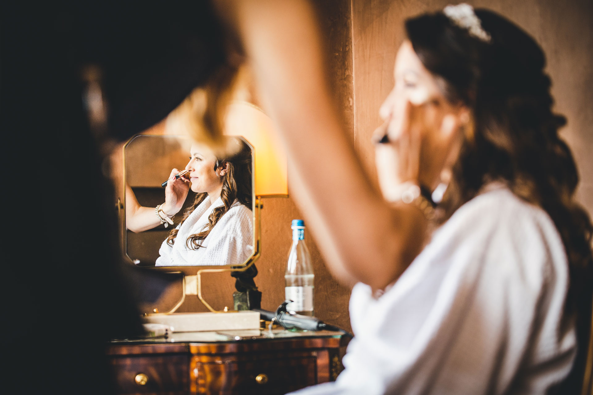 Bauer Palazzo - Luxury Hotel Weddings in Venice | The makeup artist readies the bride for her ceremony