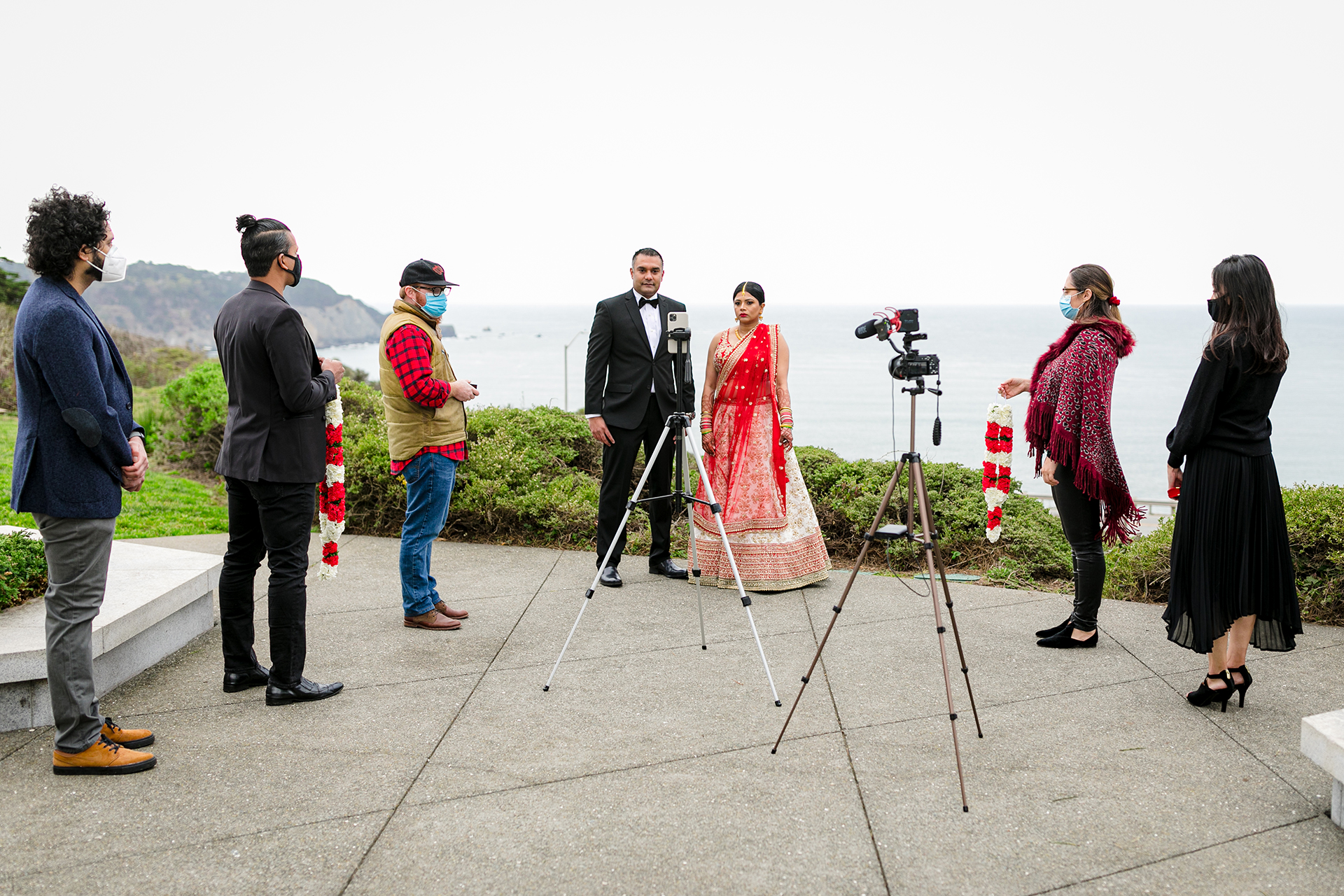 Wedding Photographers of San Francisco City, CA | The couple could not have all of their friends and family in attendance