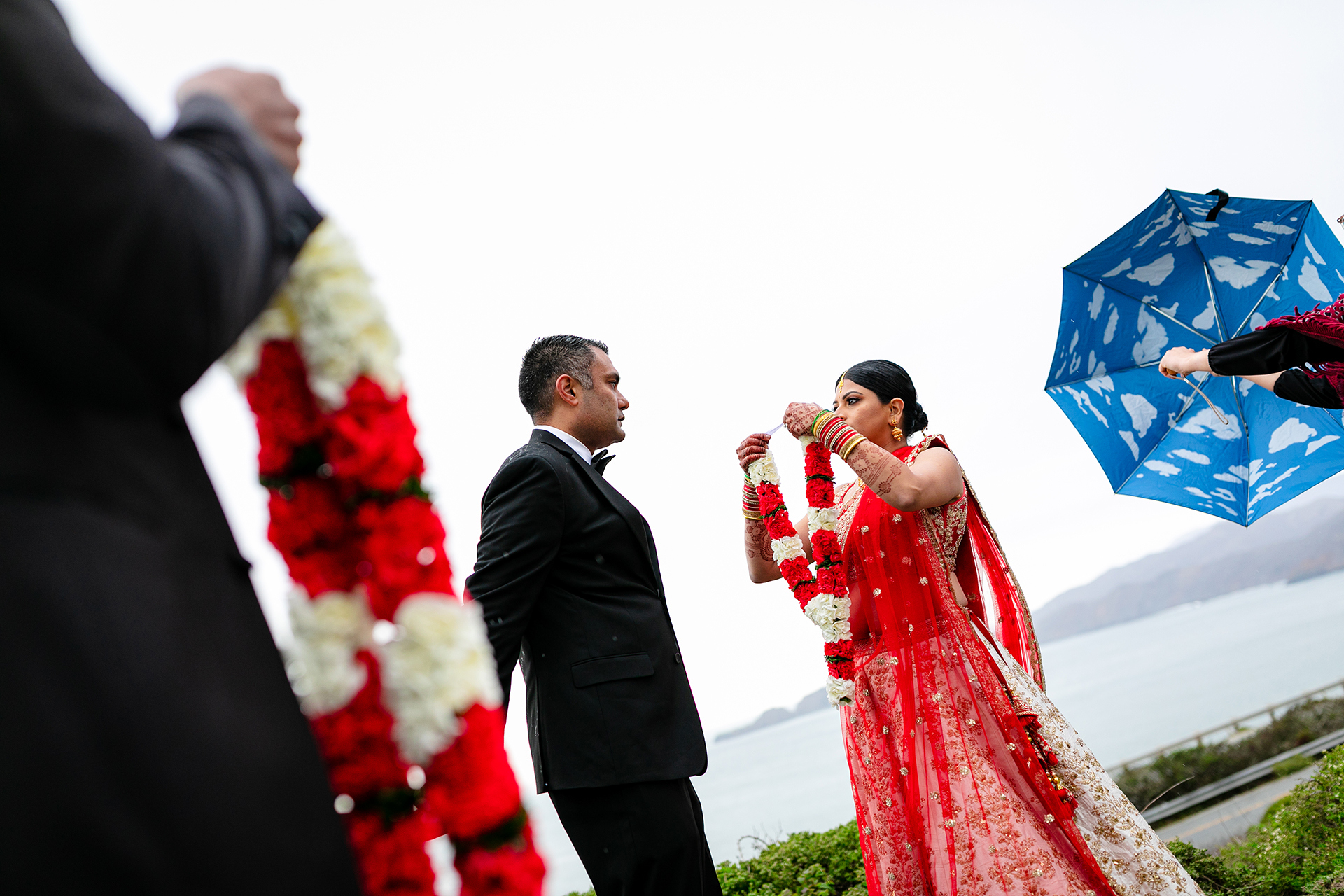 Bay Area Documentary Wedding Photography | As rain began to move into the area, the bride and groom decided to speed up the ceremony