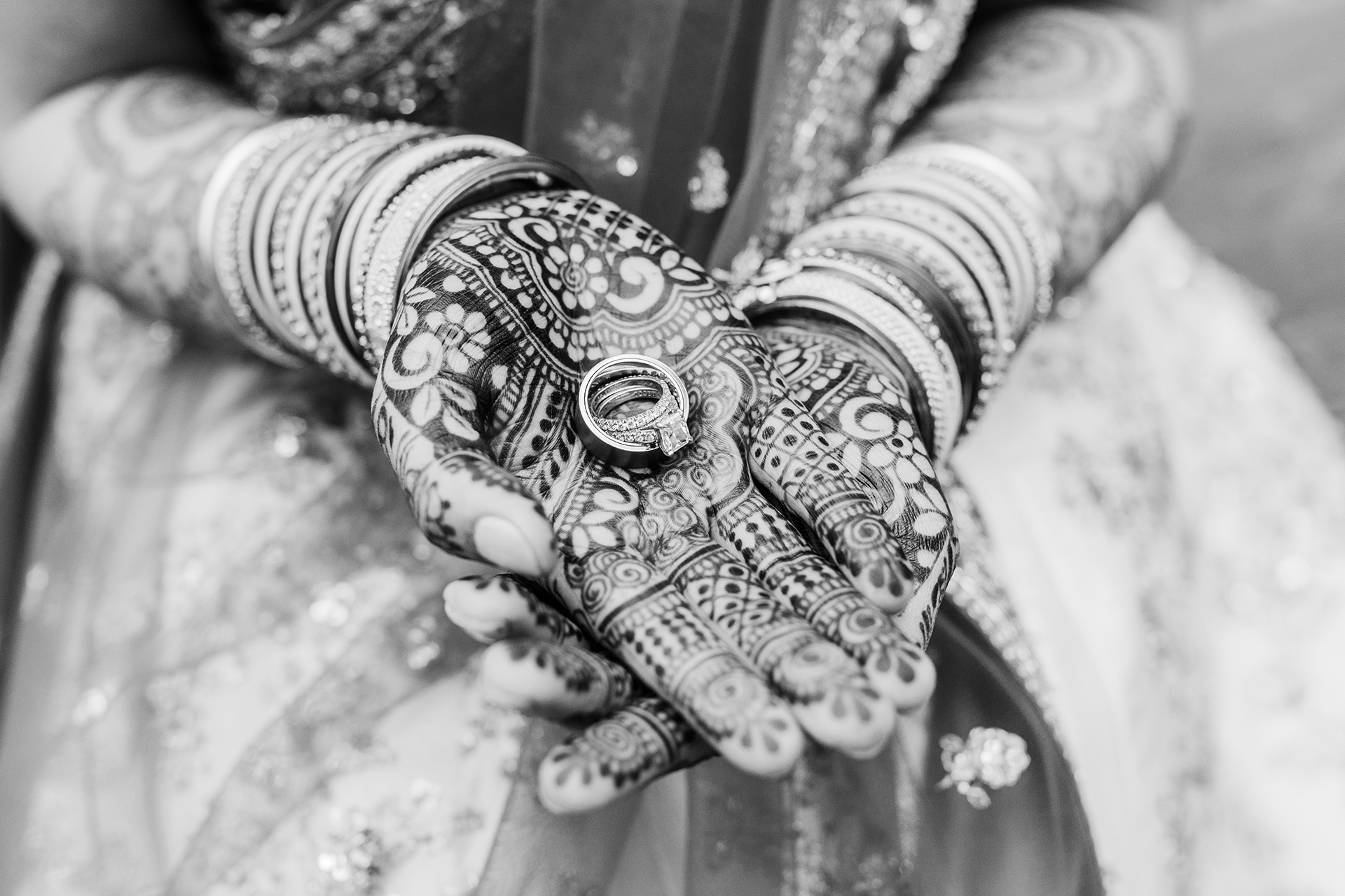 Wedding Photographers for San Francisco, CA | The bride holds her wedding rings