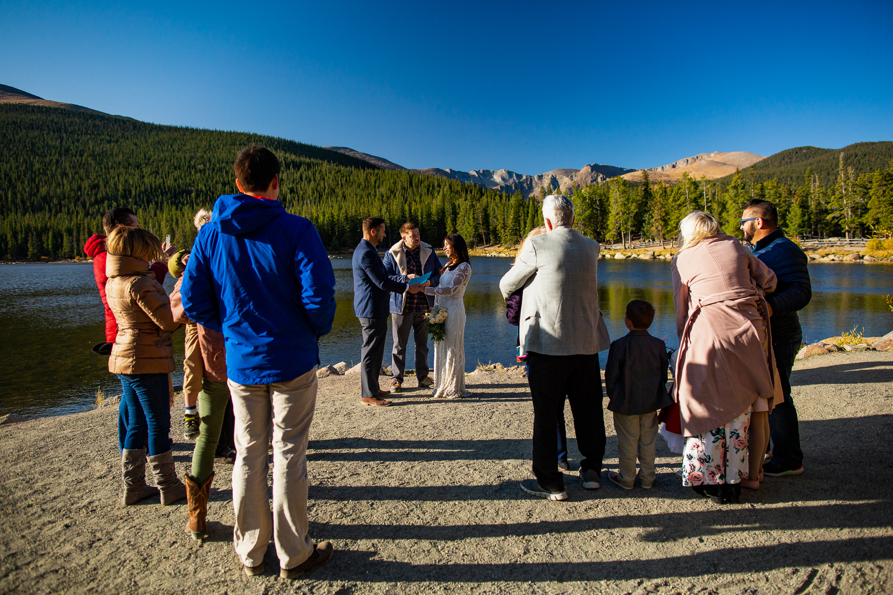 Echo Lake - Colorado Wedding Ceremony Photos   An elopement with just a small handful of friends and family