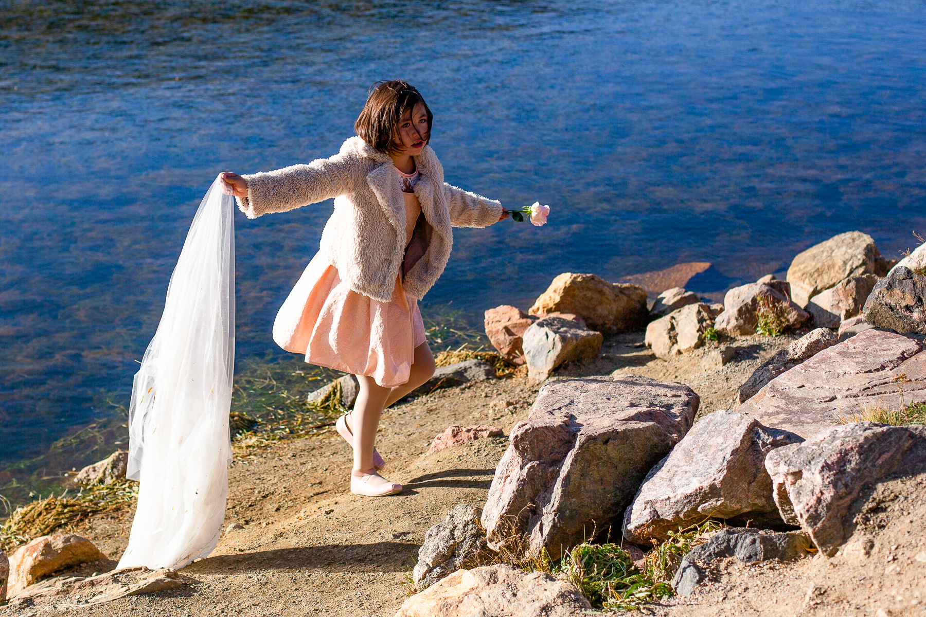 Echo Lake, Mt Evans, Colorado Wedding Photographer   It was so windy during the ceremony