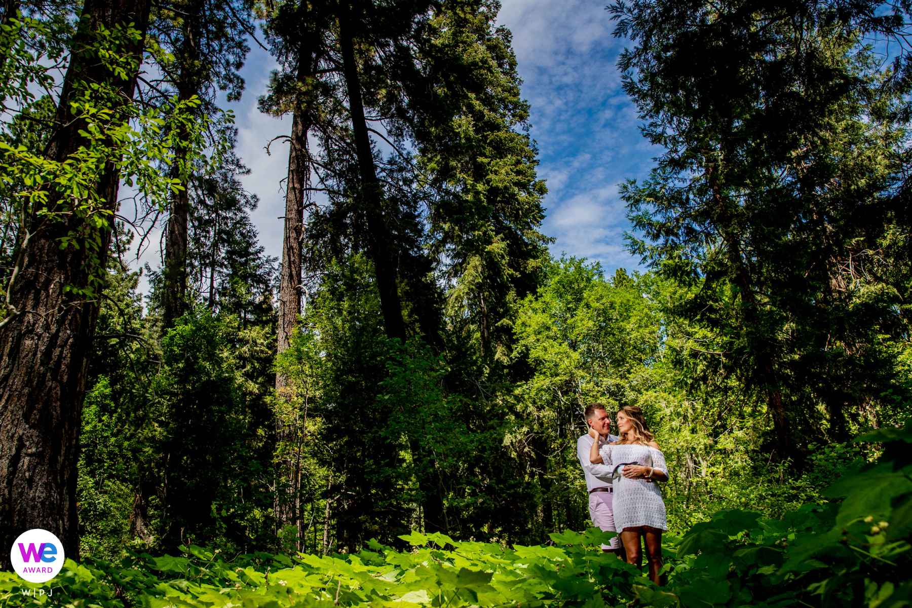 Skylandia Beach Park - Wedding Photography for Lake Tahoe   A romantic portrait of the bride and groom
