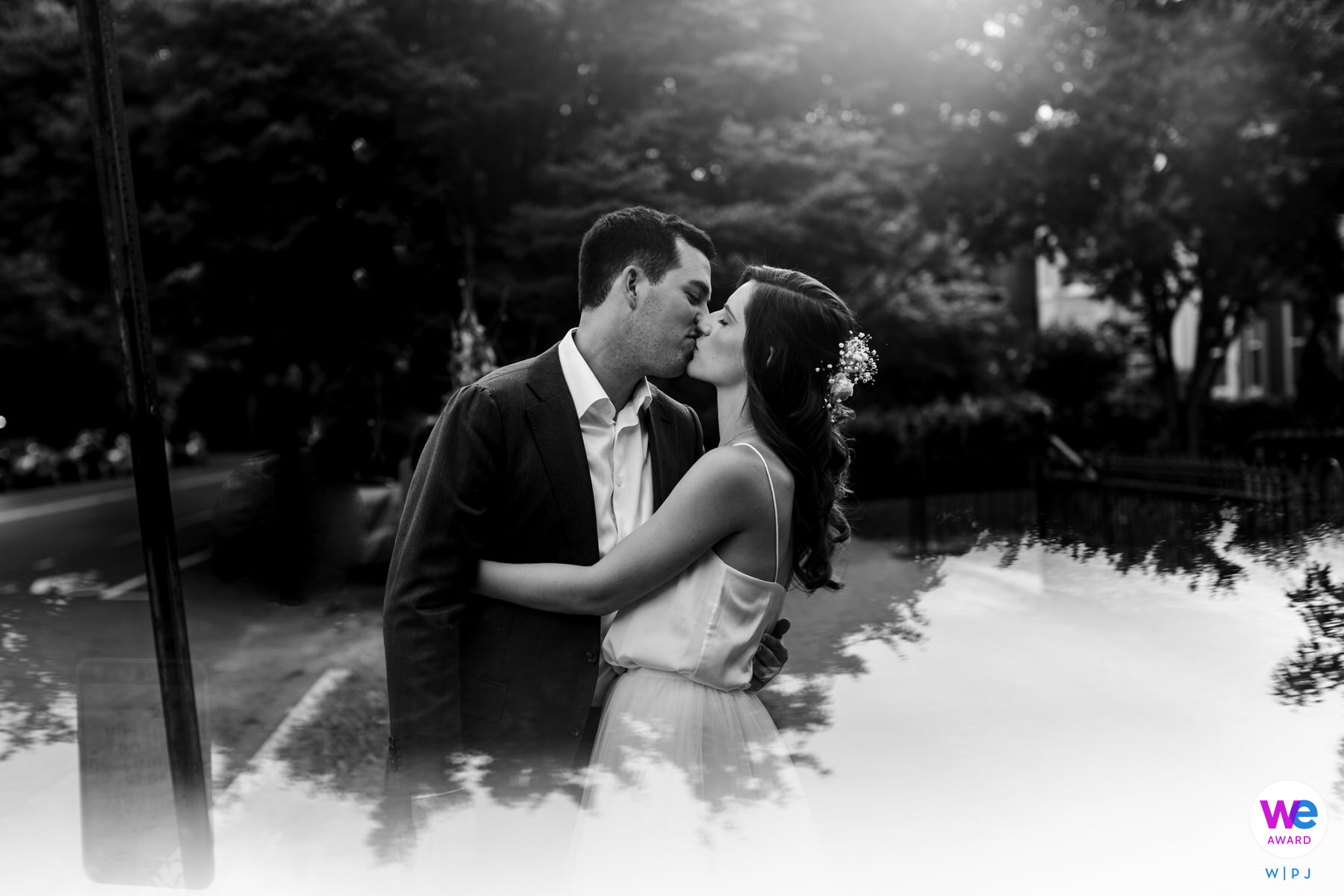Washington DC Wedding Photographers | The couple in their neighborhood in Capitol Hill