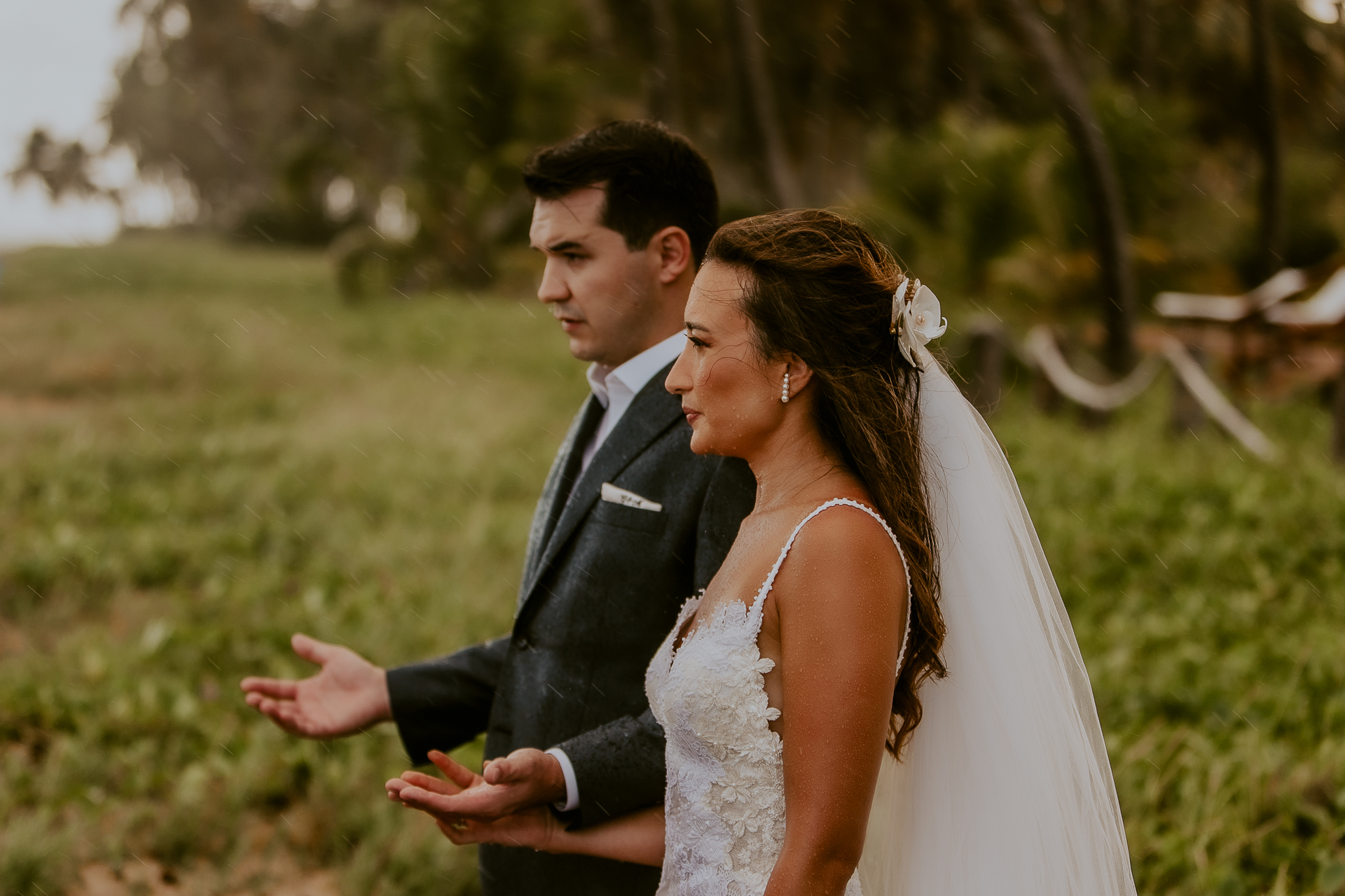 Porto de Pedras wedding ceremony photography | not viewing the rain as a detriment to their day