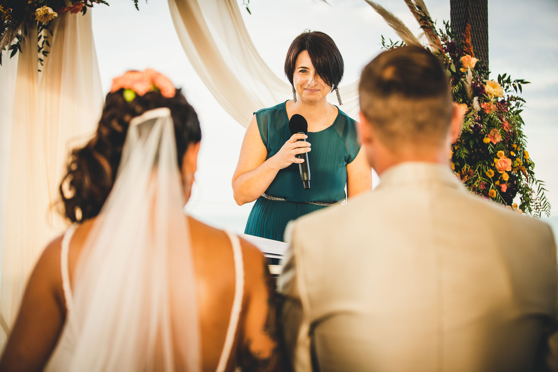 Venice Wedding Ceremony Photographer | the couple with a sense of pride and reverence