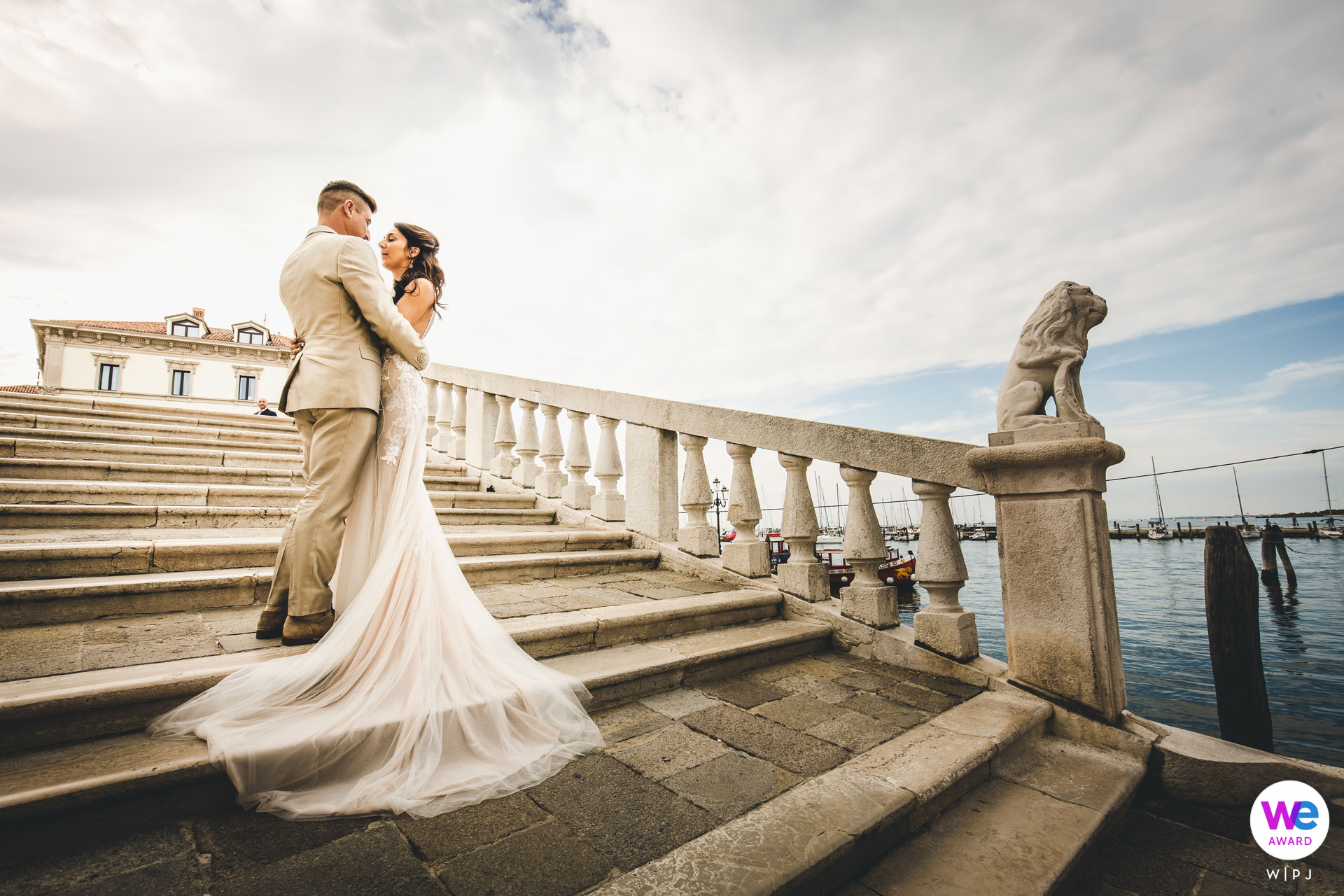 Wedding Photographer created a serene couple portrait immediately following the ceremony