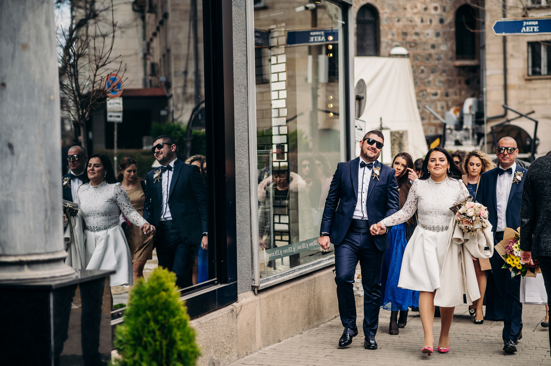 Top Wedding Photography in Sofia, Bulgaria | The bride is taking her future groom by the hand and leading the way