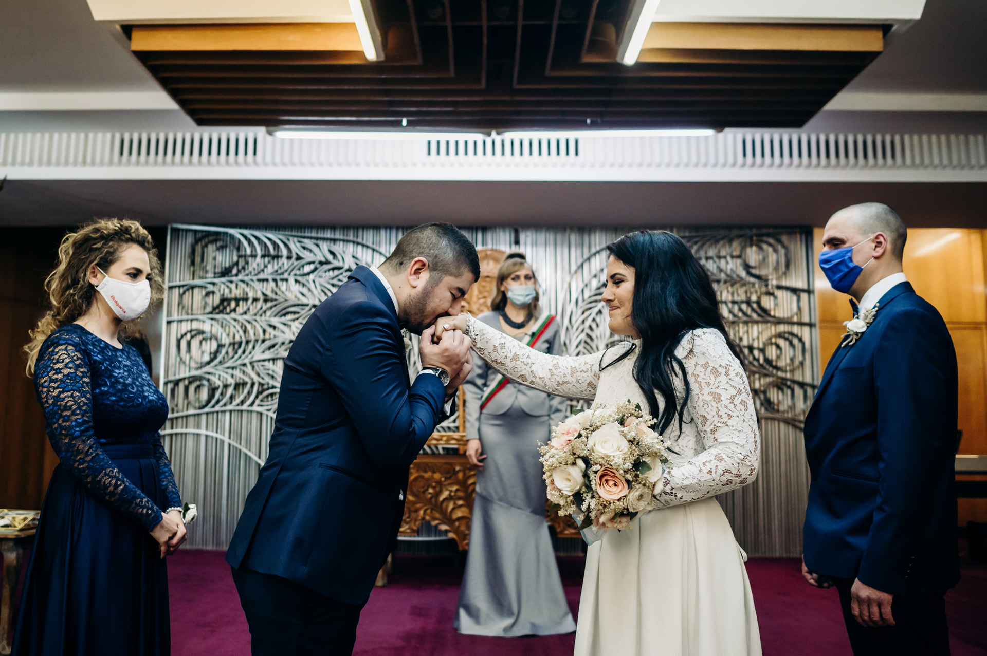 Wedding and Elopement Photographer of Bulgaria | putting the wedding ring on his bride's finger