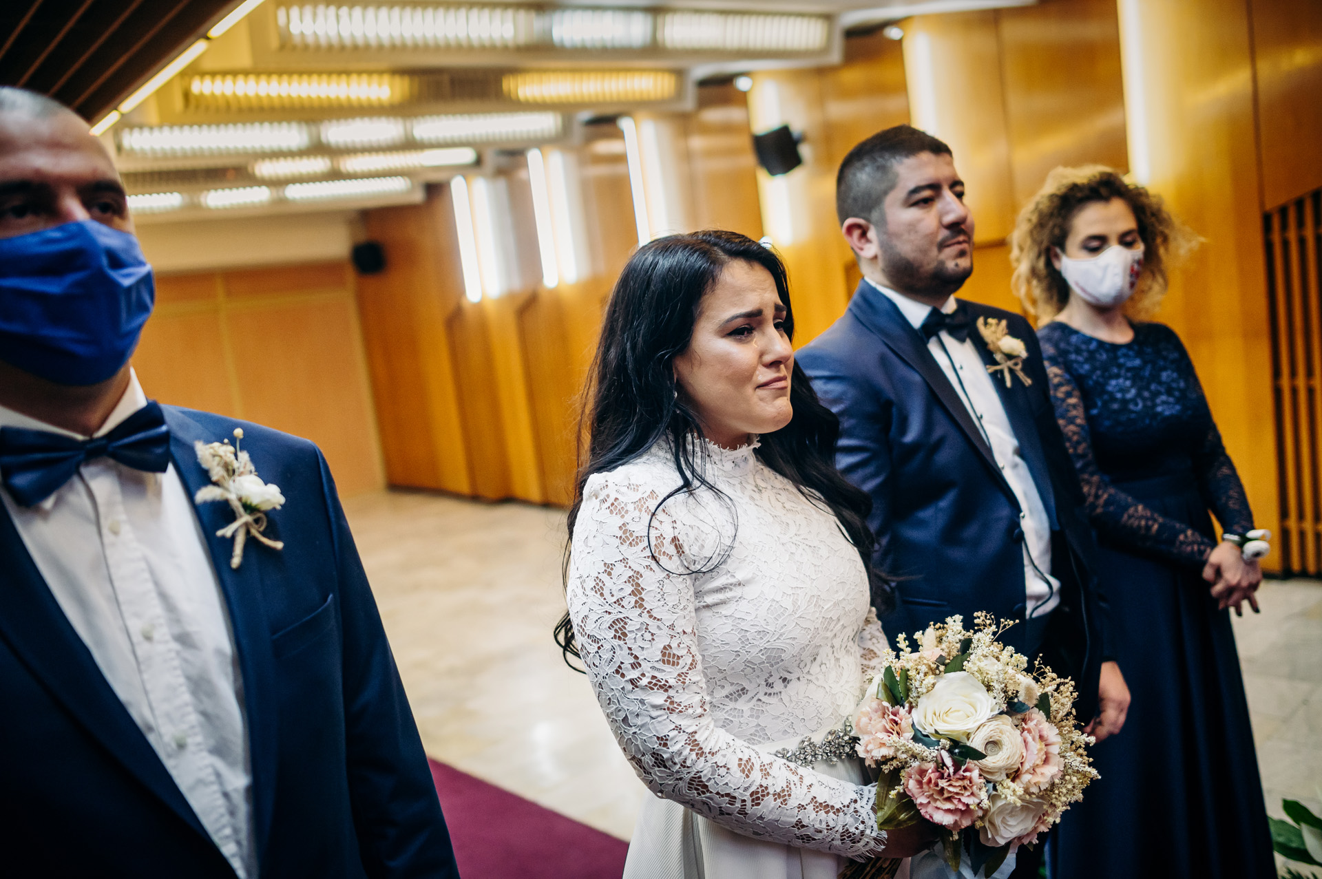 Wedding Ceremony Photography of Sofia, Bulgaria | The bride is overcome by the magnitude of the moment